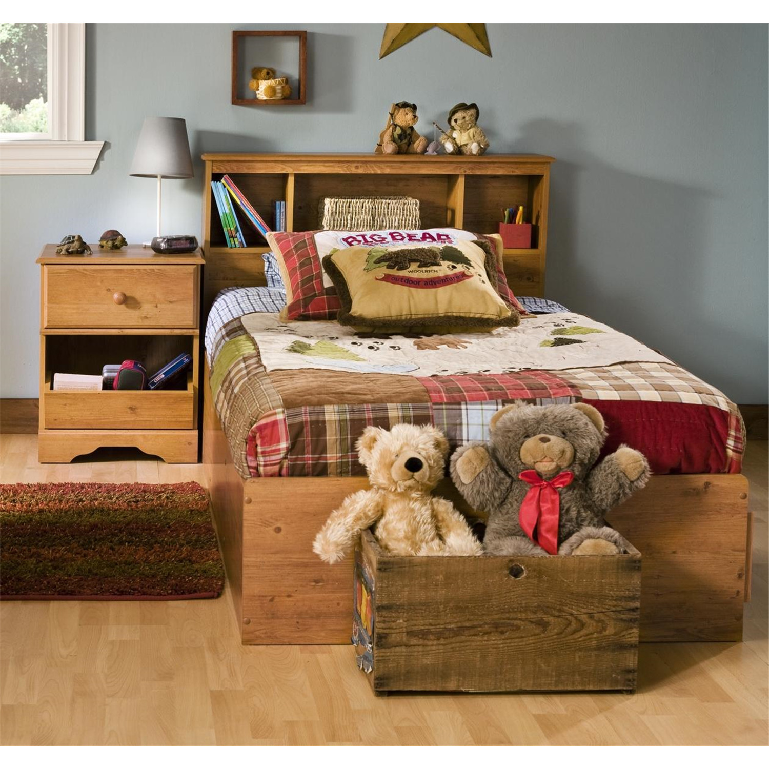 South Shore Kids Twin Wood Captain s Bed 3 Piece Bedroom