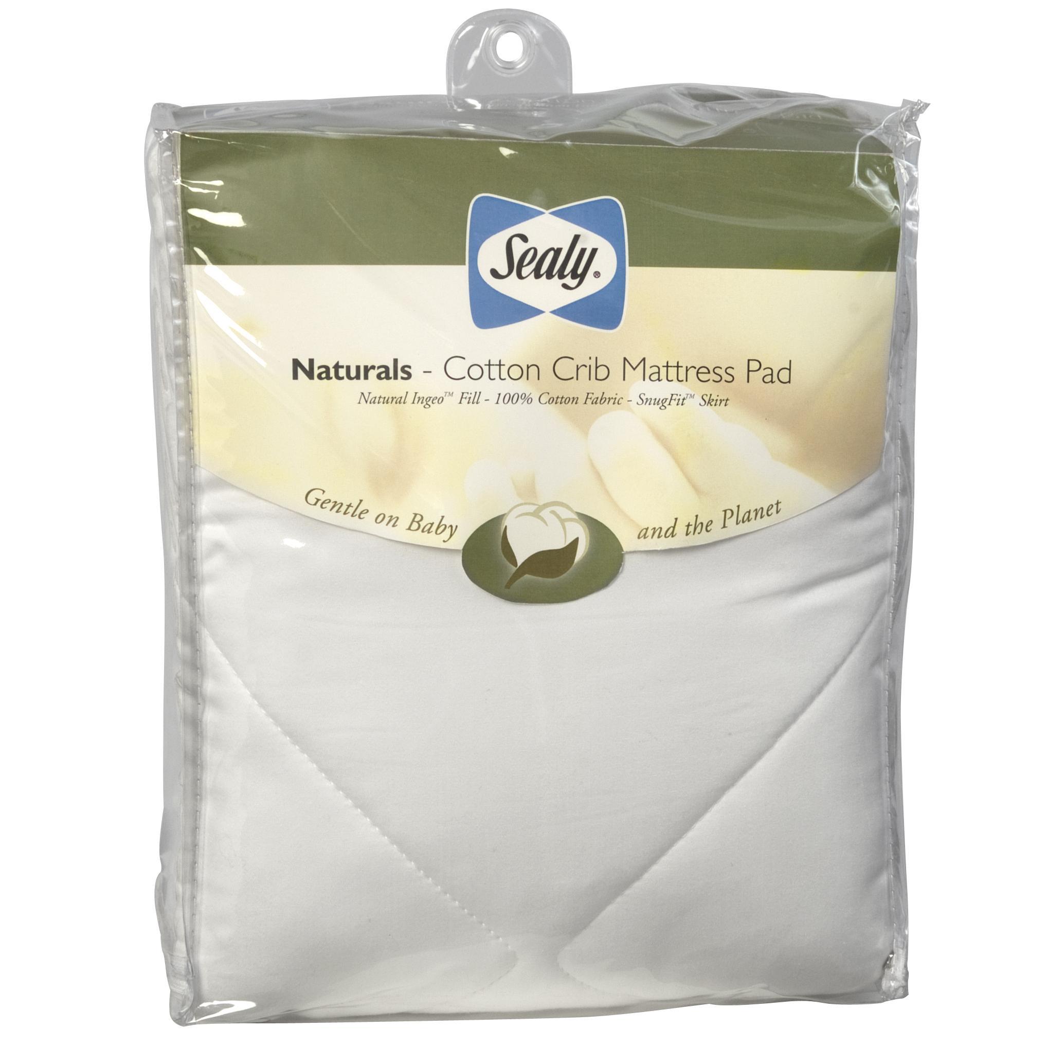 Sealy Sealy Naturals Cotton Crib Mattress Pad By Oj