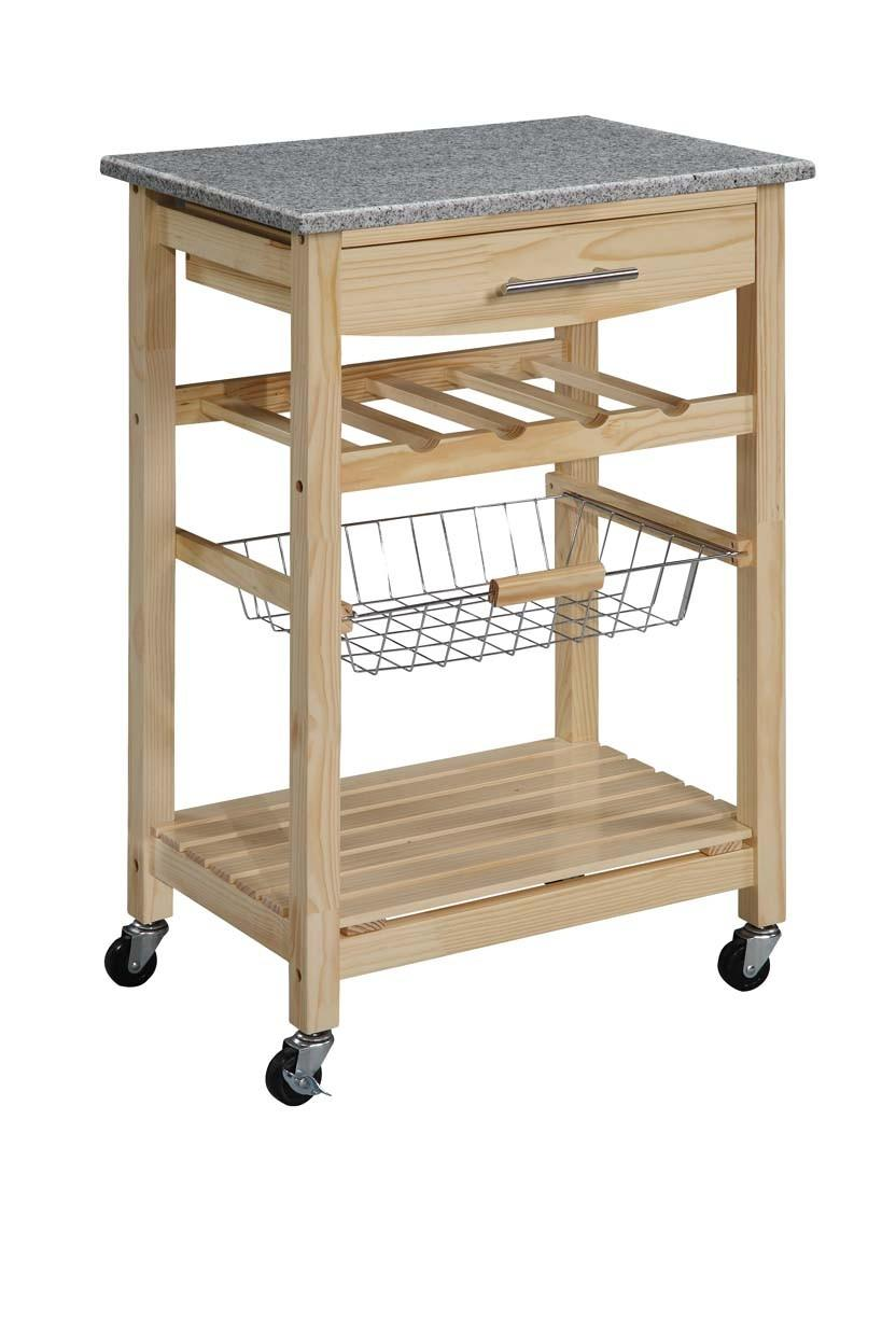 Linon Kitchen Island Cart With Granite Top By Oj Commerce 44037knat 01 Kd U