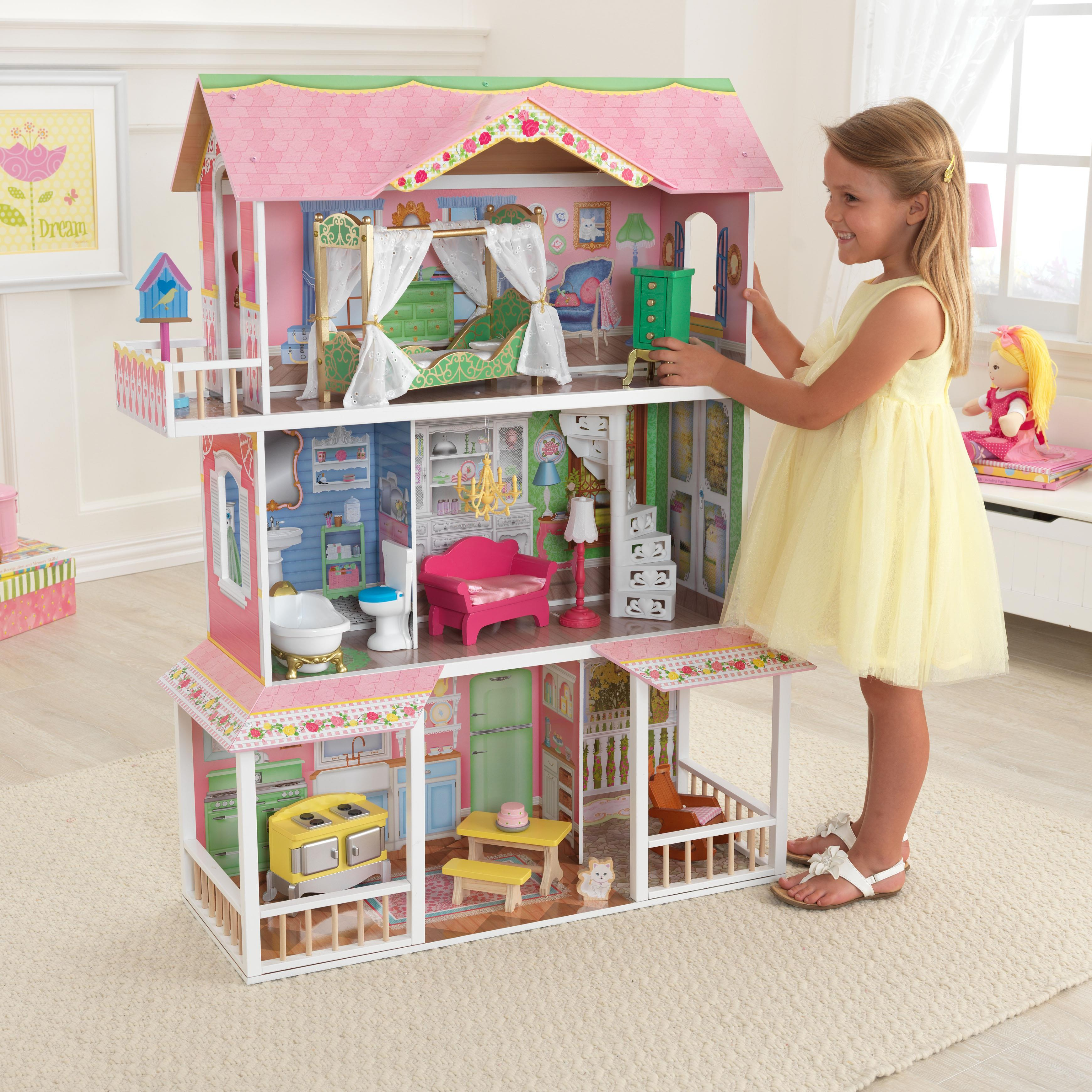 Kidkraft Sweet Savannah Dollhouse With Furniture By Oj Commerce 65851