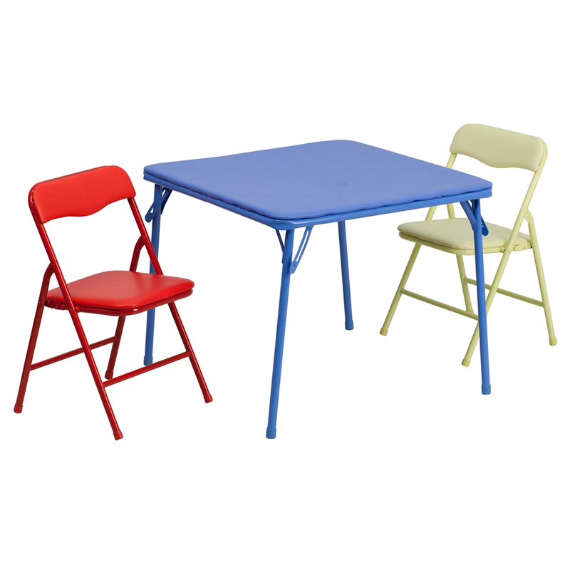 Flash Kids Colorful Folding Table and Chair Set by OJ merce $39 36 $85 99