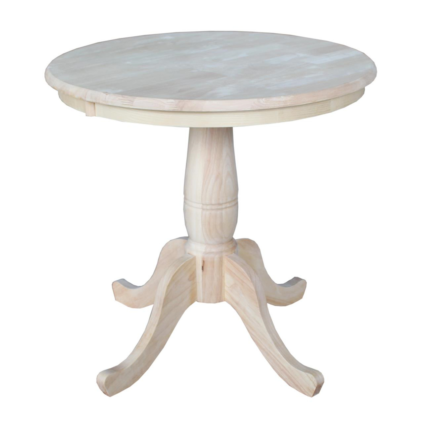 International concepts round top pedestal table by oj for Pedestal table