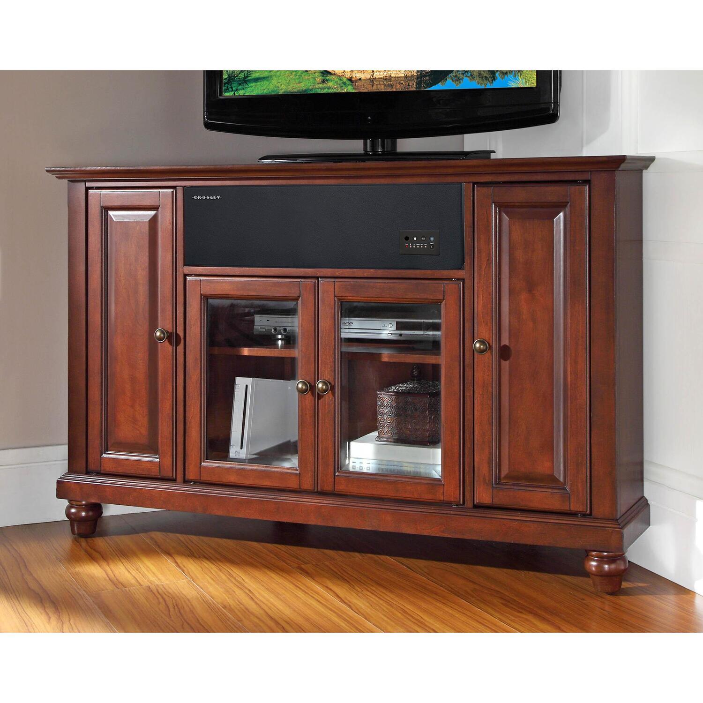 crosley cambridge 48 corner aroundsound tv stand by oj commerce. Black Bedroom Furniture Sets. Home Design Ideas