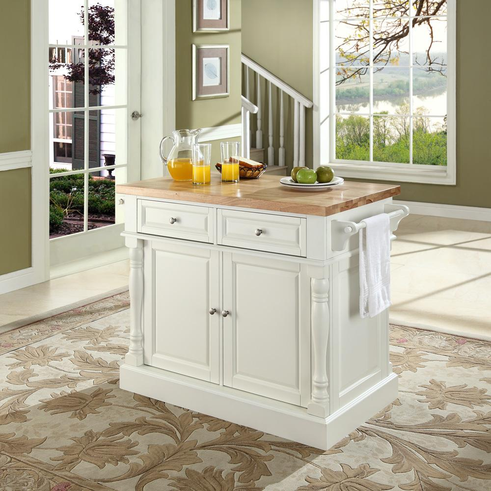 Butcher Block Kitchen Carts And Islands : Crosley Butcher Block Kitchen Island by OJ Commerce $699.00