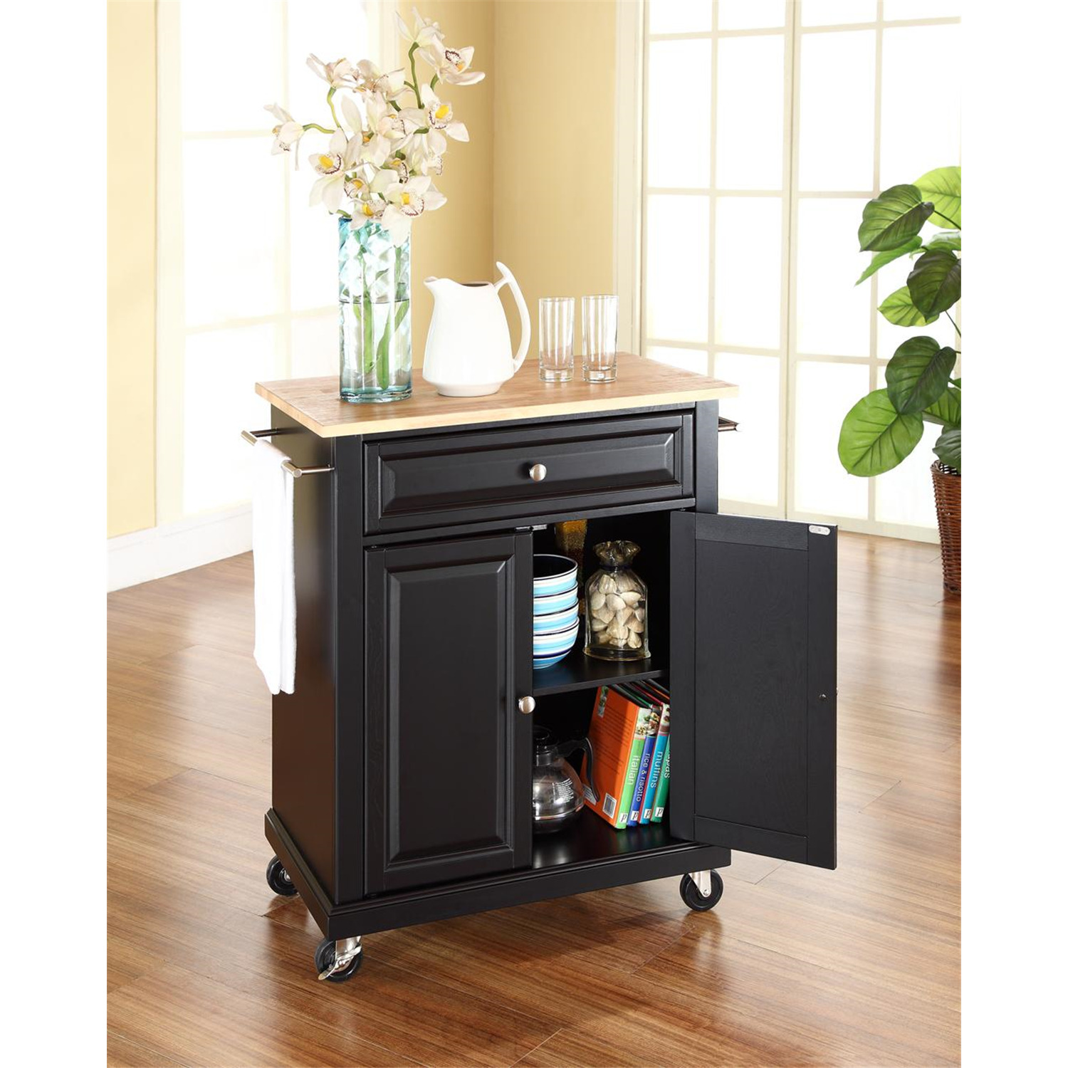 Crosley Portable Kitchen Cart Island By Oj Commerce