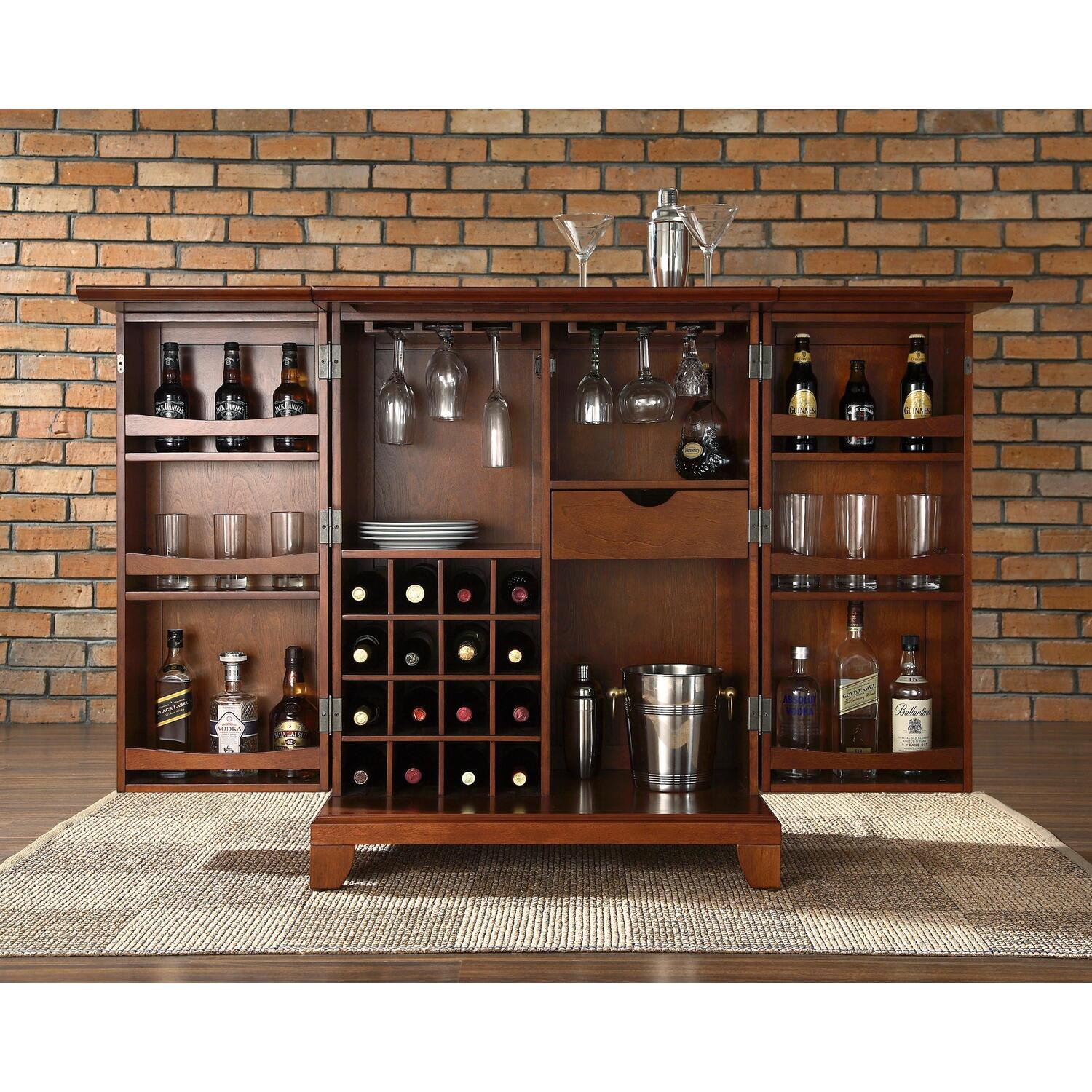 Crosley Newport Expandable Bar Cabinet By OJ Commerce
