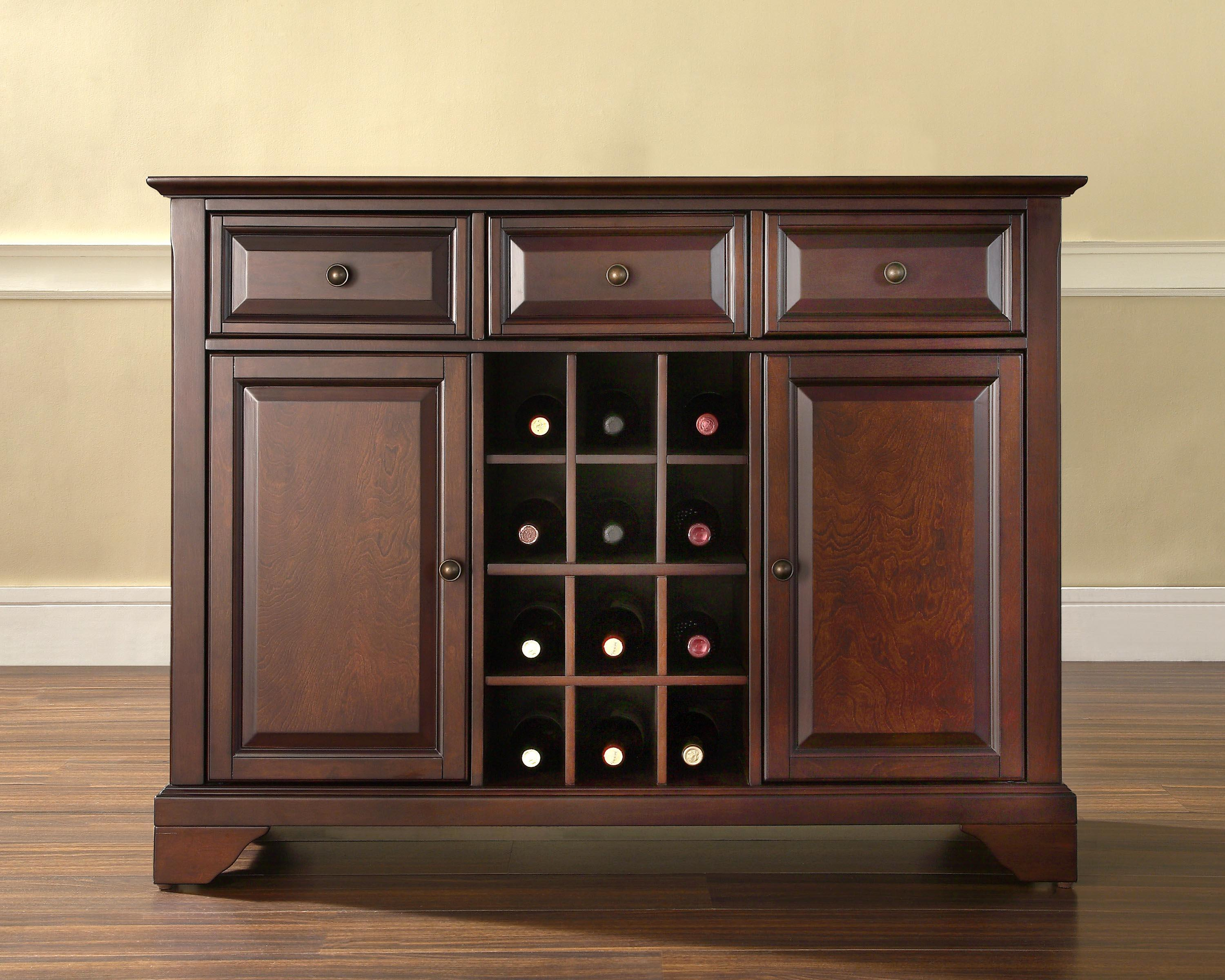Server sideboard cabinet with wine storage by oj commerce 419 00