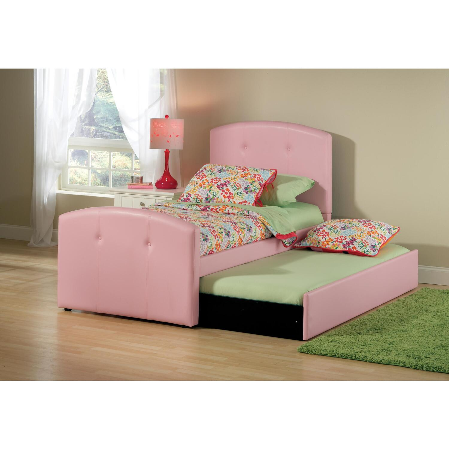 Hillsdale Furniture Laci Bed w Trundle Twin Pink by