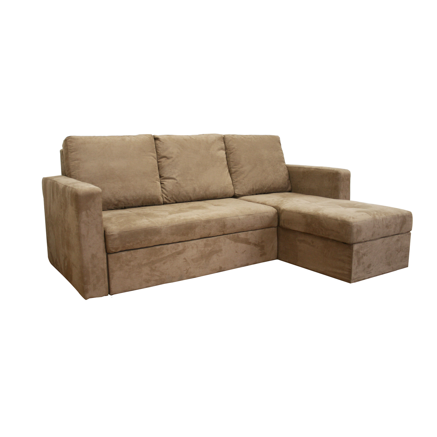 Whole sale interiors linden tan microfiber convertible for Tan couches for sale