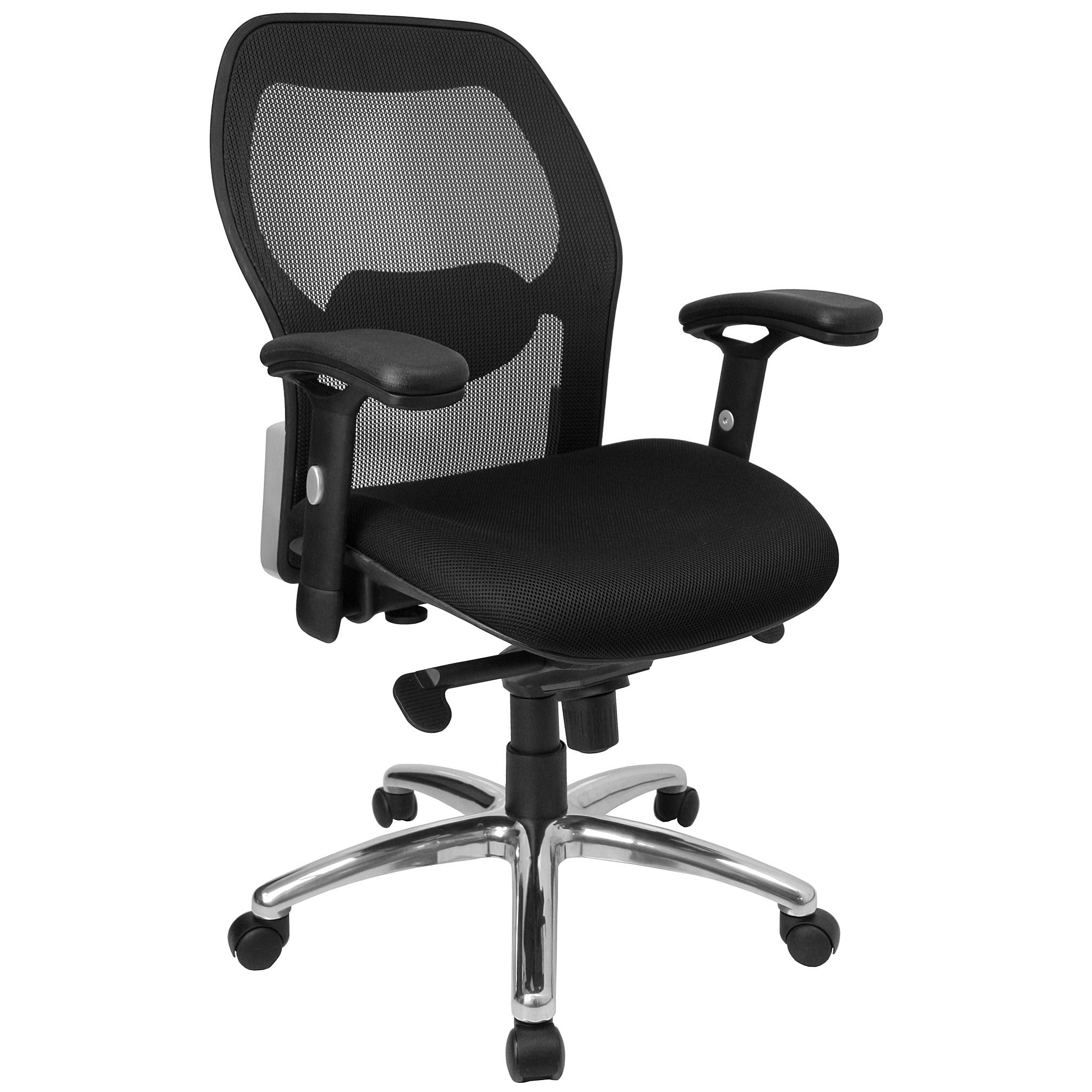 flash high back super mesh office chair with black fabric