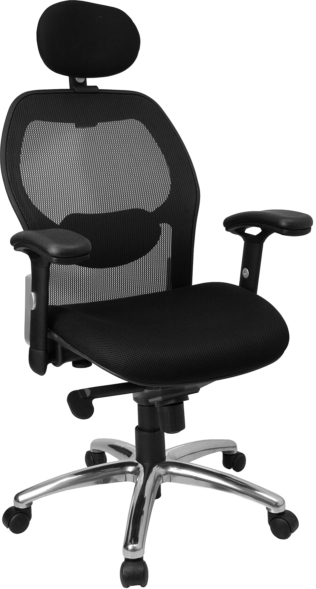 Flash High Back Super Mesh Office Chair With Black Fabric Seat And Knee Tilt