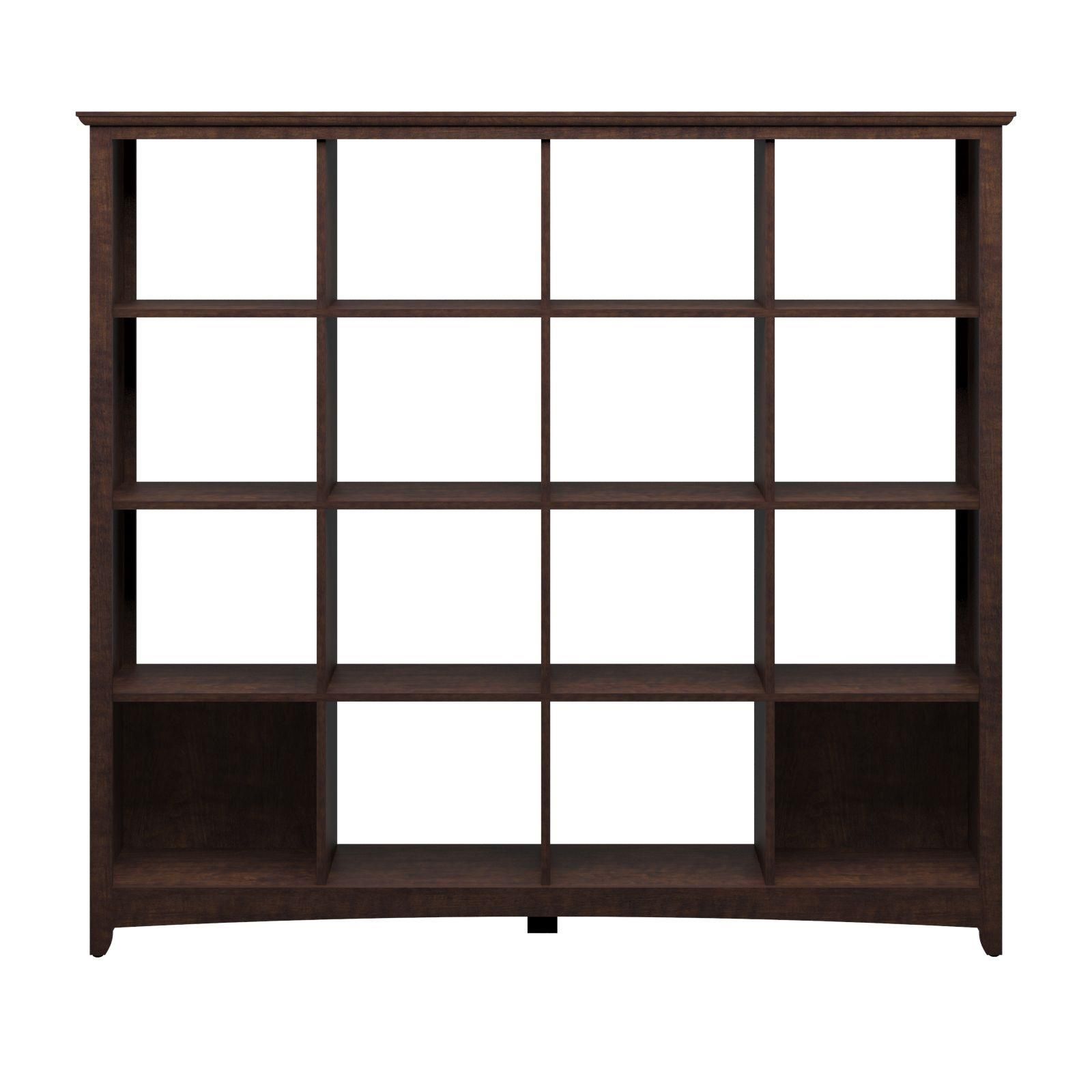 Bush furniture buena vista 16 cube bookcase room divider by oj commerce my13803 03 - Bookshelves as room divider ...
