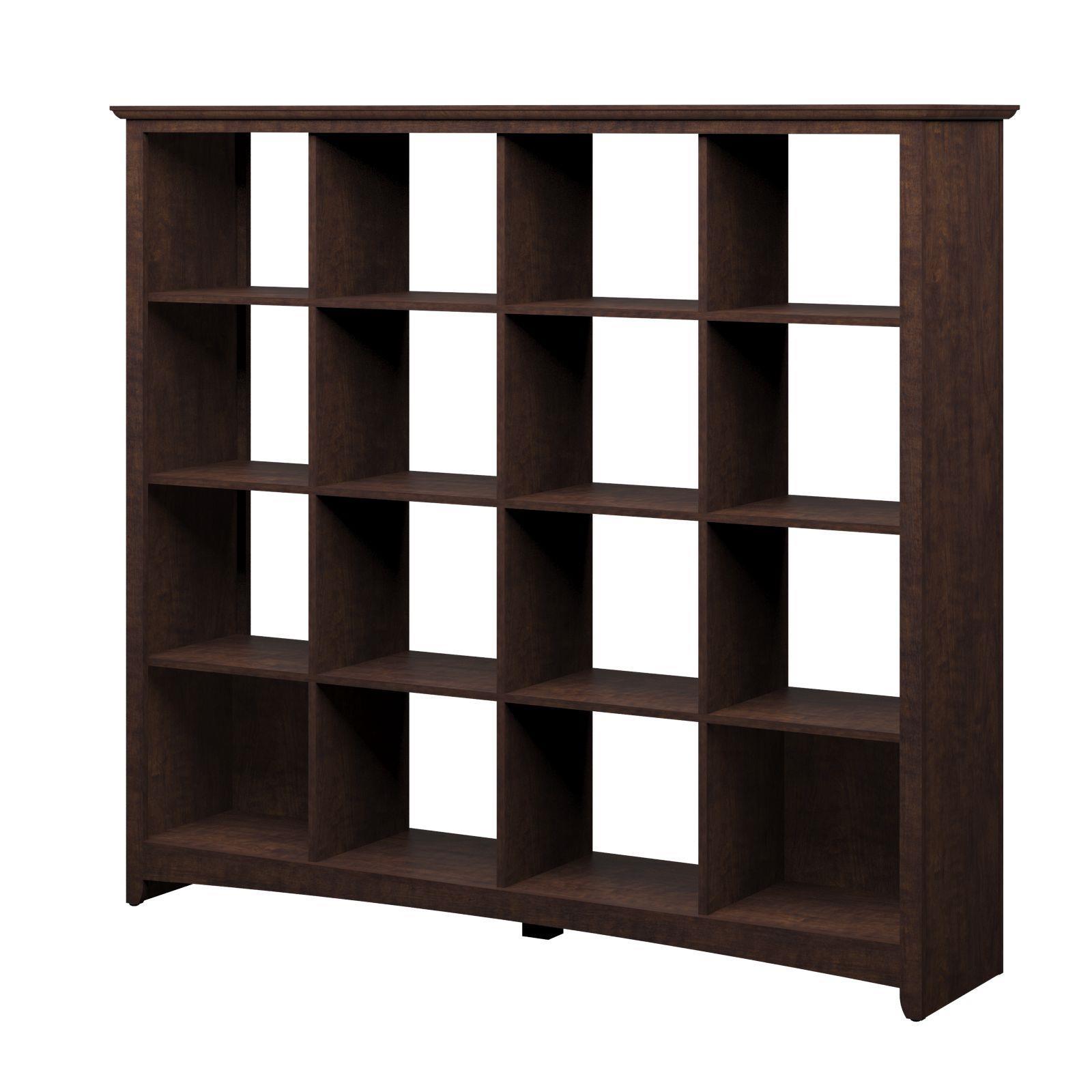 Bush furniture buena vista 16 cube bookcase room divider for Storage furniture