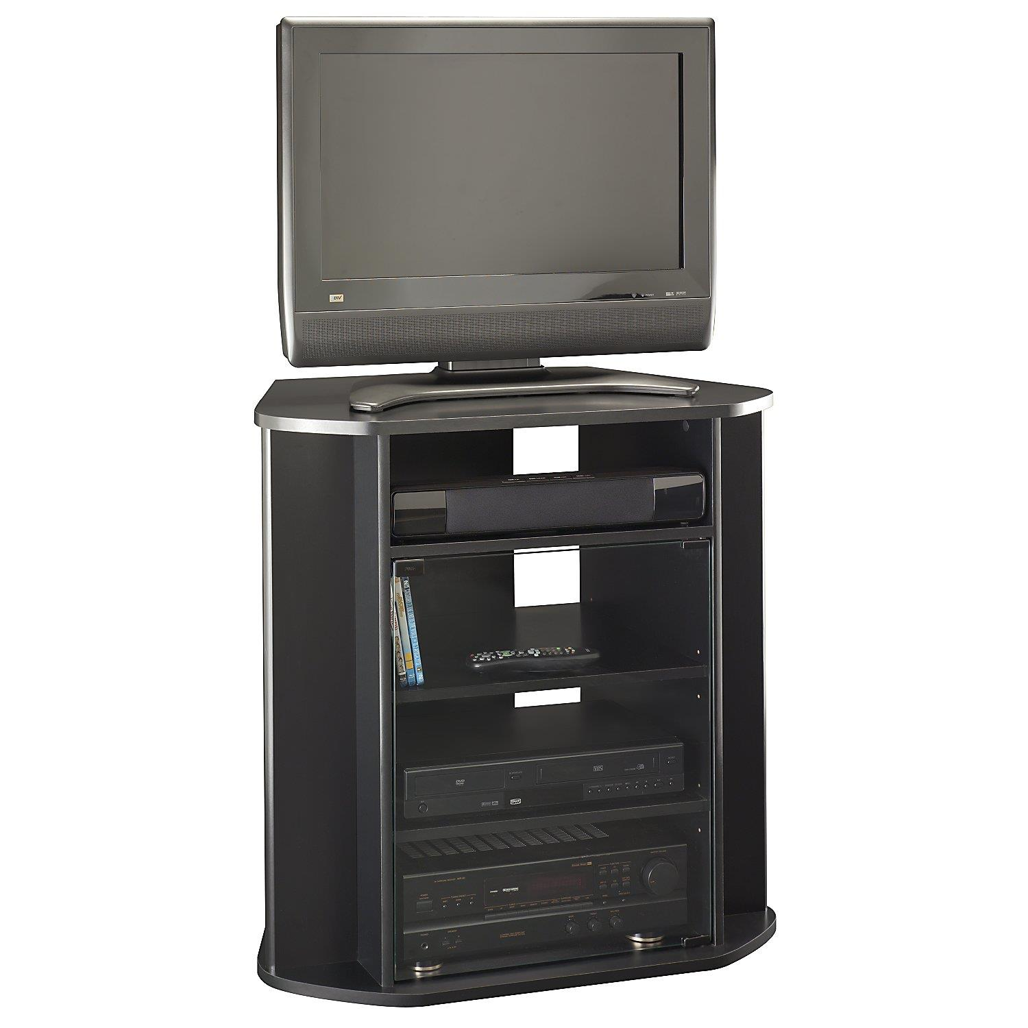 bush furniture tall corner tv stand by oj commerce my37927. Black Bedroom Furniture Sets. Home Design Ideas