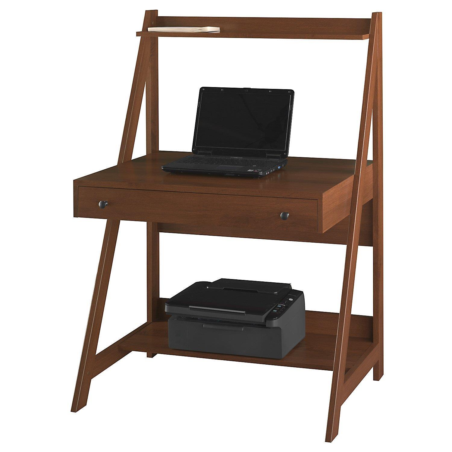 Small Laptop Desk With Printer Shelf