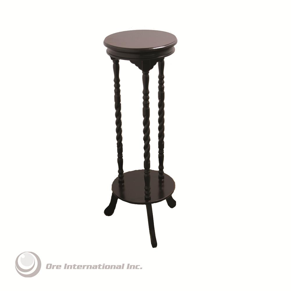 Ore International Walnut Finish Indoor Plant Stand By Oj
