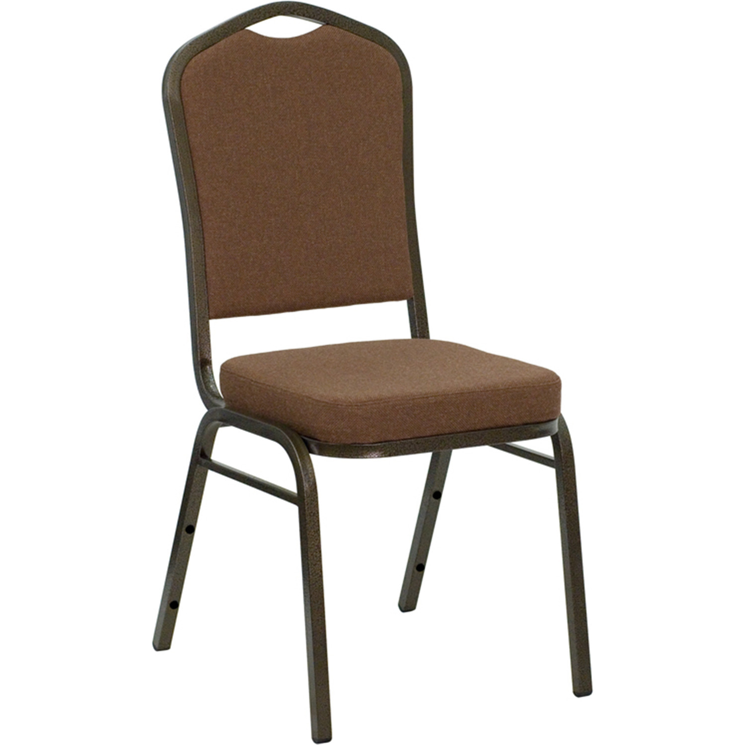 Flash Furniture Hercules Series Crown Back Stacking Banquet Chair With 2 5 39 39 Thick Seat Gold