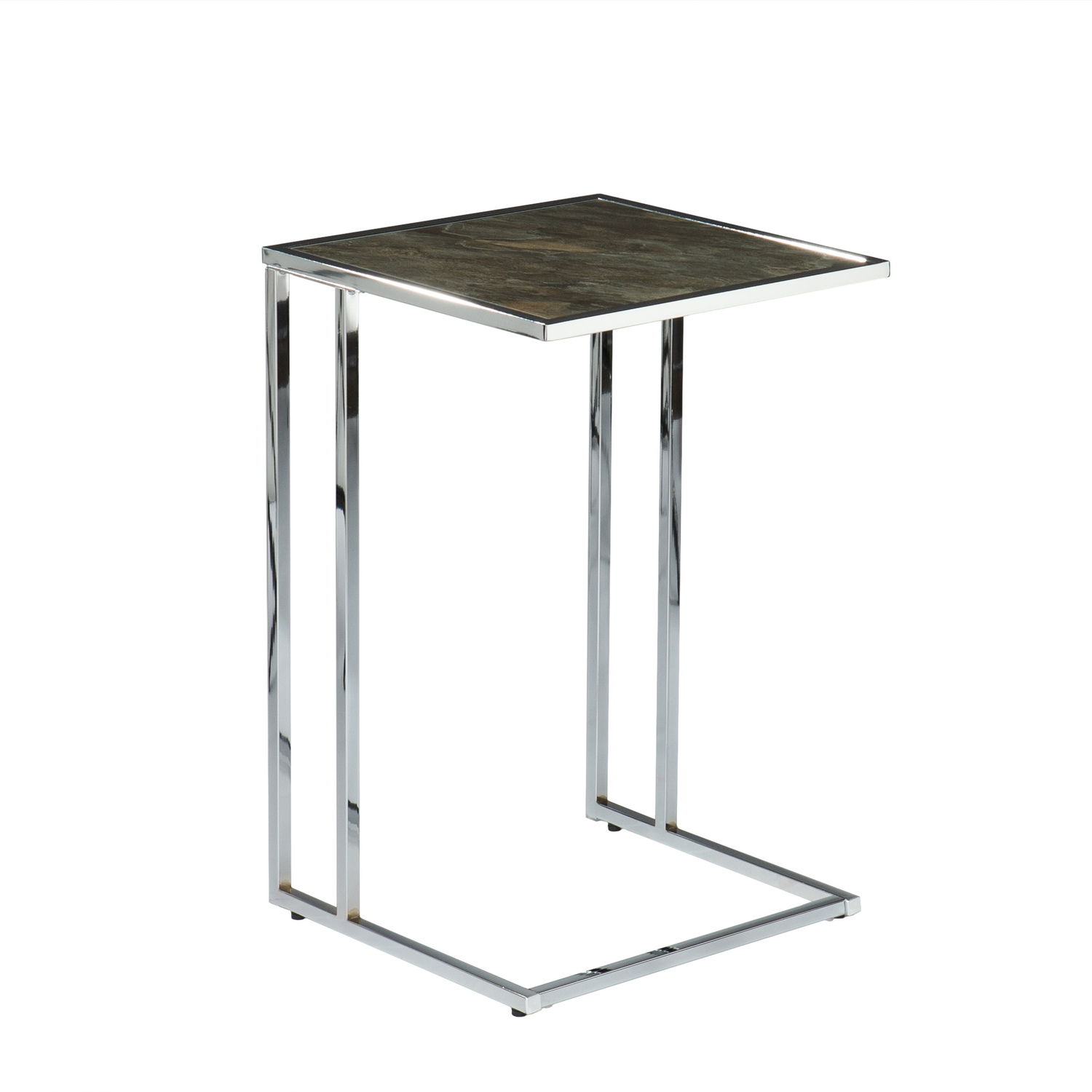 Southern enterprises sofa server accent table marble by oj for Sofa side table