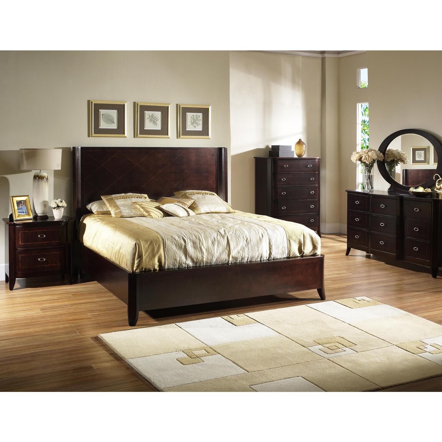 Dark Wooden Bed ~ Somerton crossroads king panel bed by oj commerce p