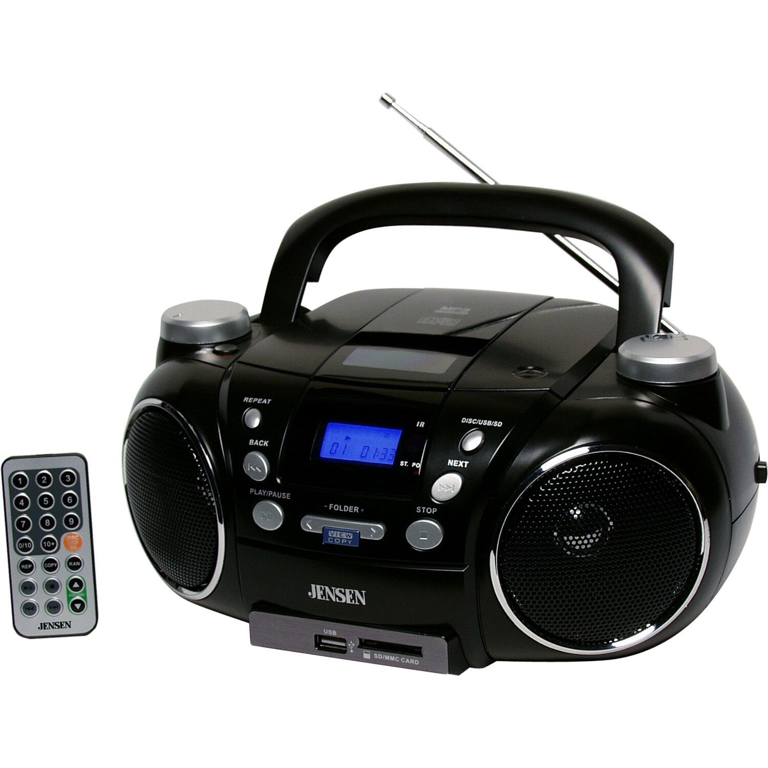 jensen jensen cd750 blk portable cd player am fm radio with digital by oj commerce ptjs750. Black Bedroom Furniture Sets. Home Design Ideas