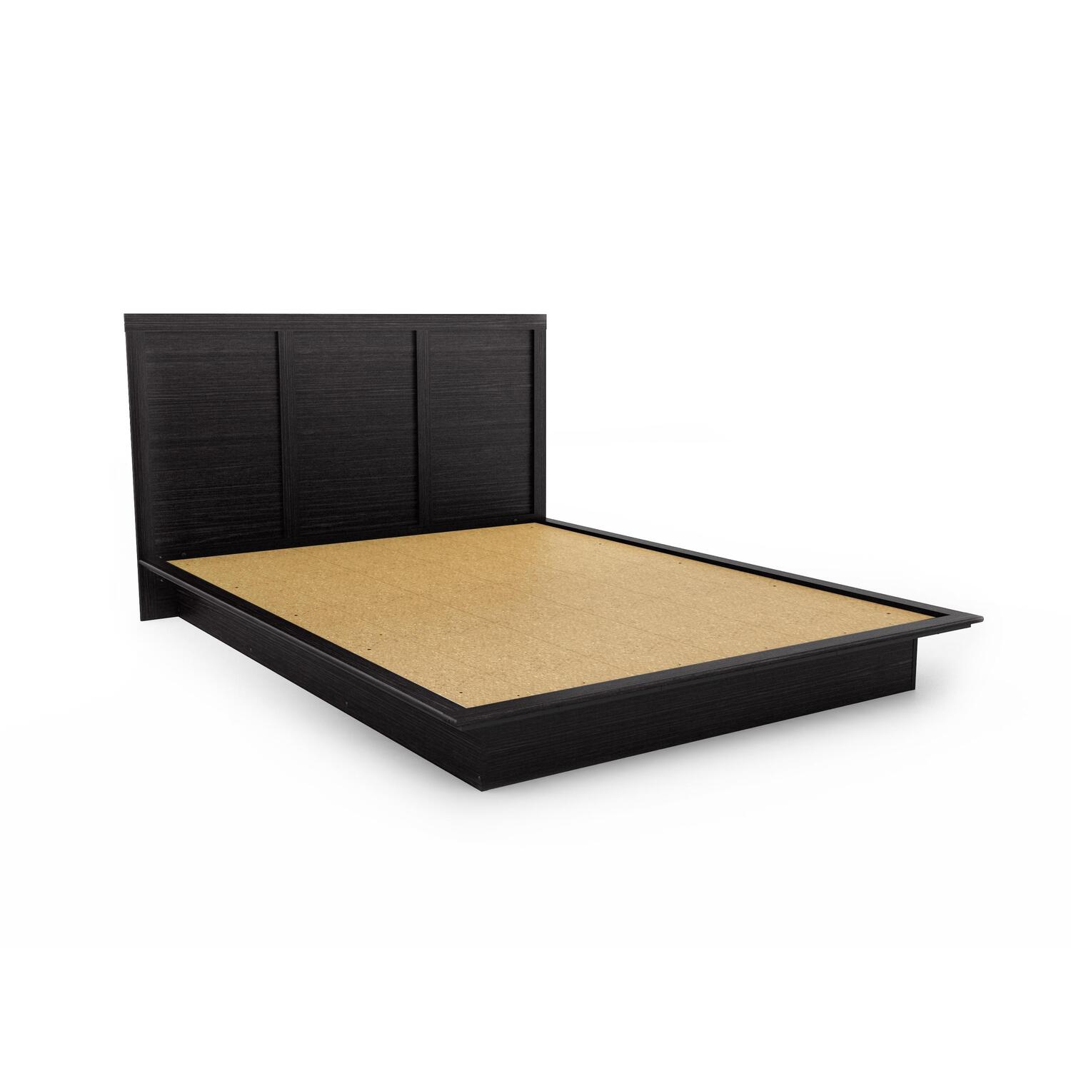 Sonax Plateau Queen Platform Bed in Ravenwood Black by OJ