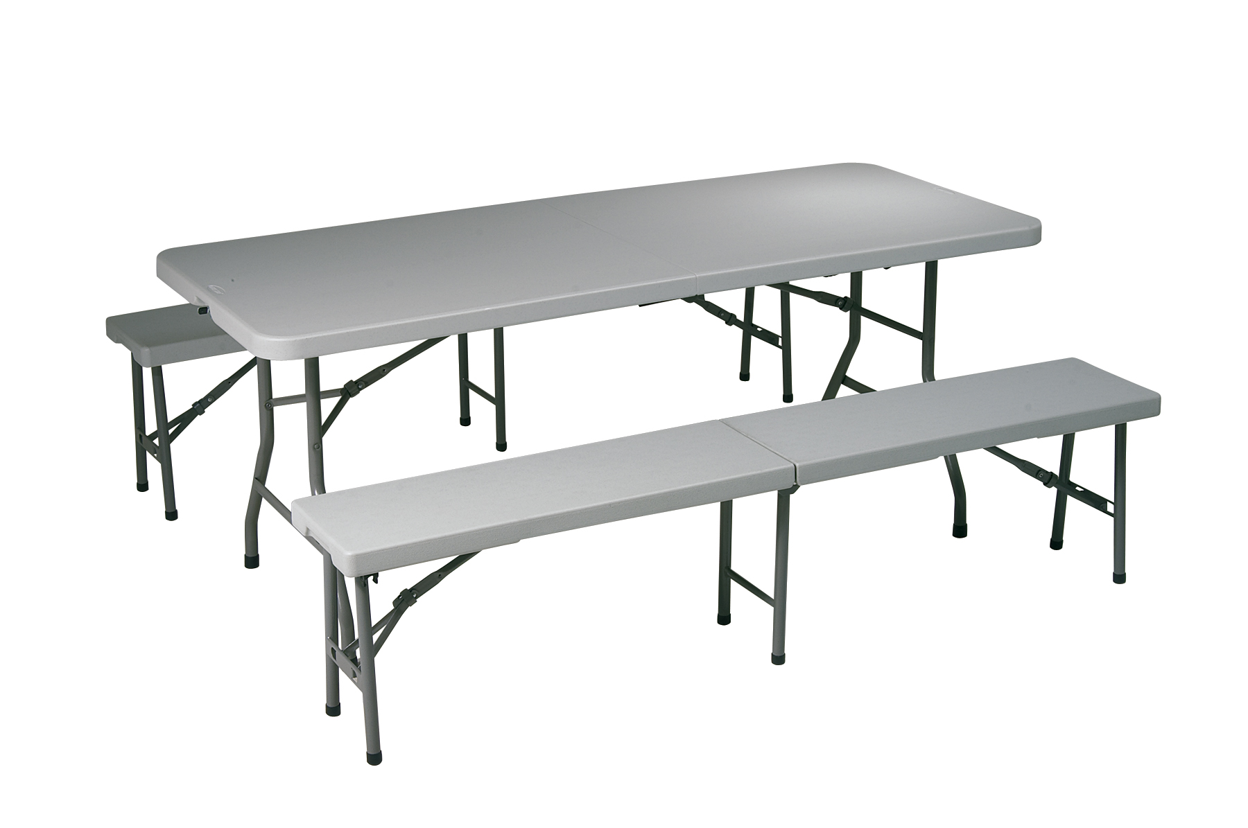 Office Star 3 Piece Folding Table And Bench Set By Oj Commerce Qt3965