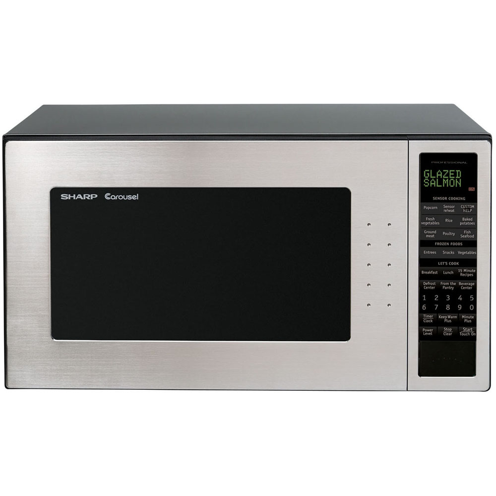 Sharp Countertop Microwave Dimensions : Sharp 2.0 Cu. Ft. 1200W Full-Size Microwave Oven - Stainless Steel by ...