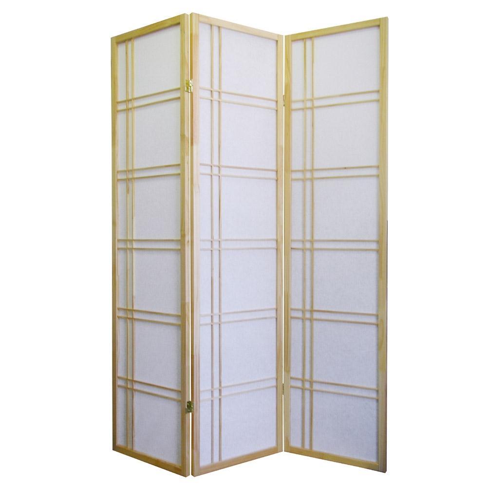 Ore international girard 3 panel room divider by oj commerce - 3 panel screen room divider ...