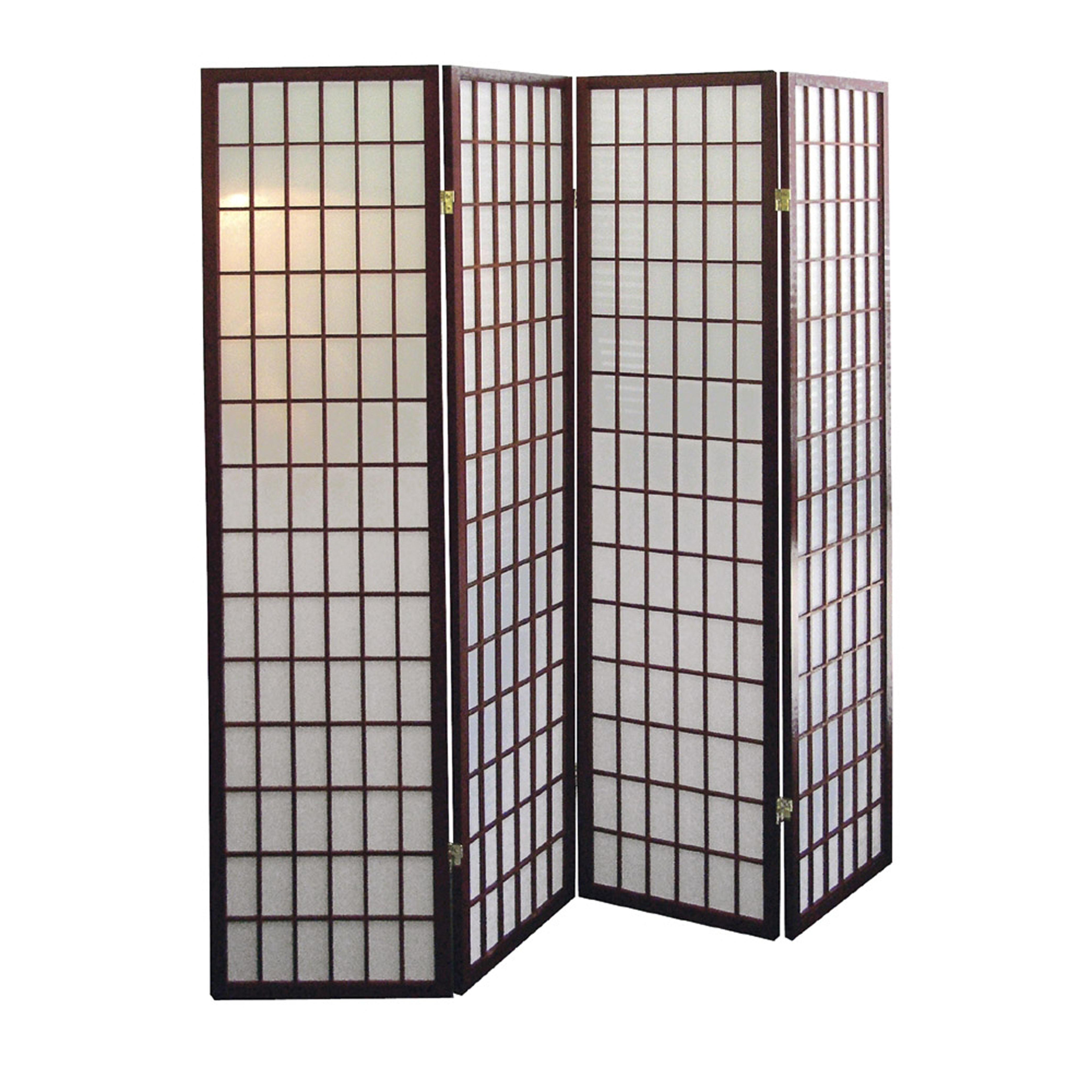 Ore International Cherry 4 Panel Room Divider By Oj