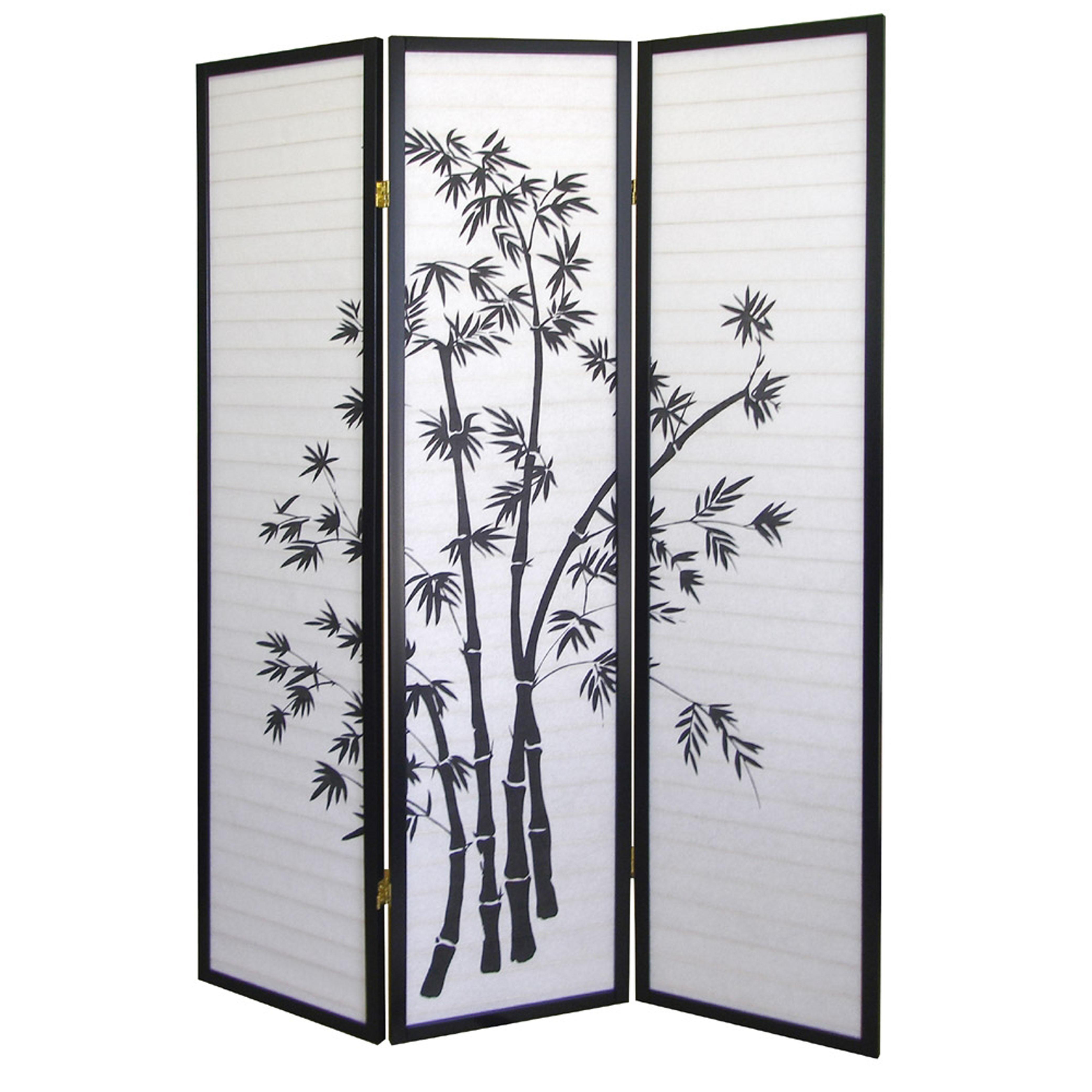 Ore international bamboo 3 panel room divider by oj commerce r591 - 3 panel screen room divider ...