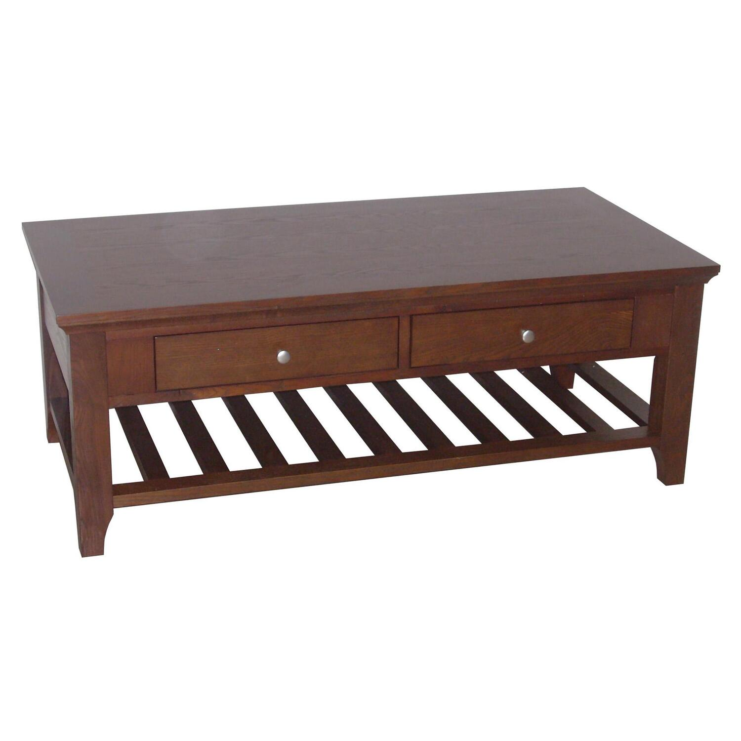 Ore International Fraser Coffee Table 2 Drawers By Oj Commerce R9111