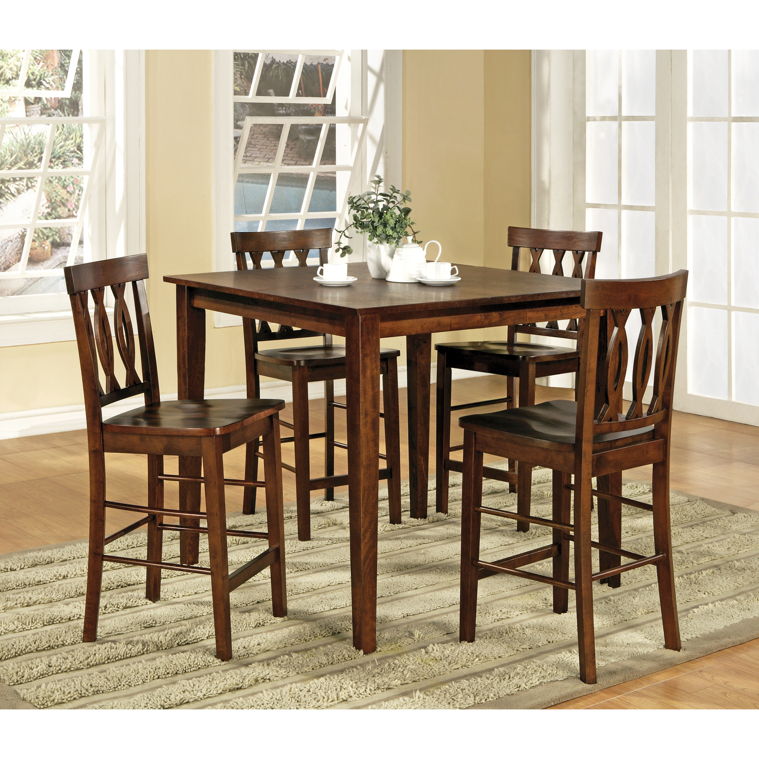 Steve Silver Richmond Counter Dining Table 5 Pc Set By OJ Commerce 400