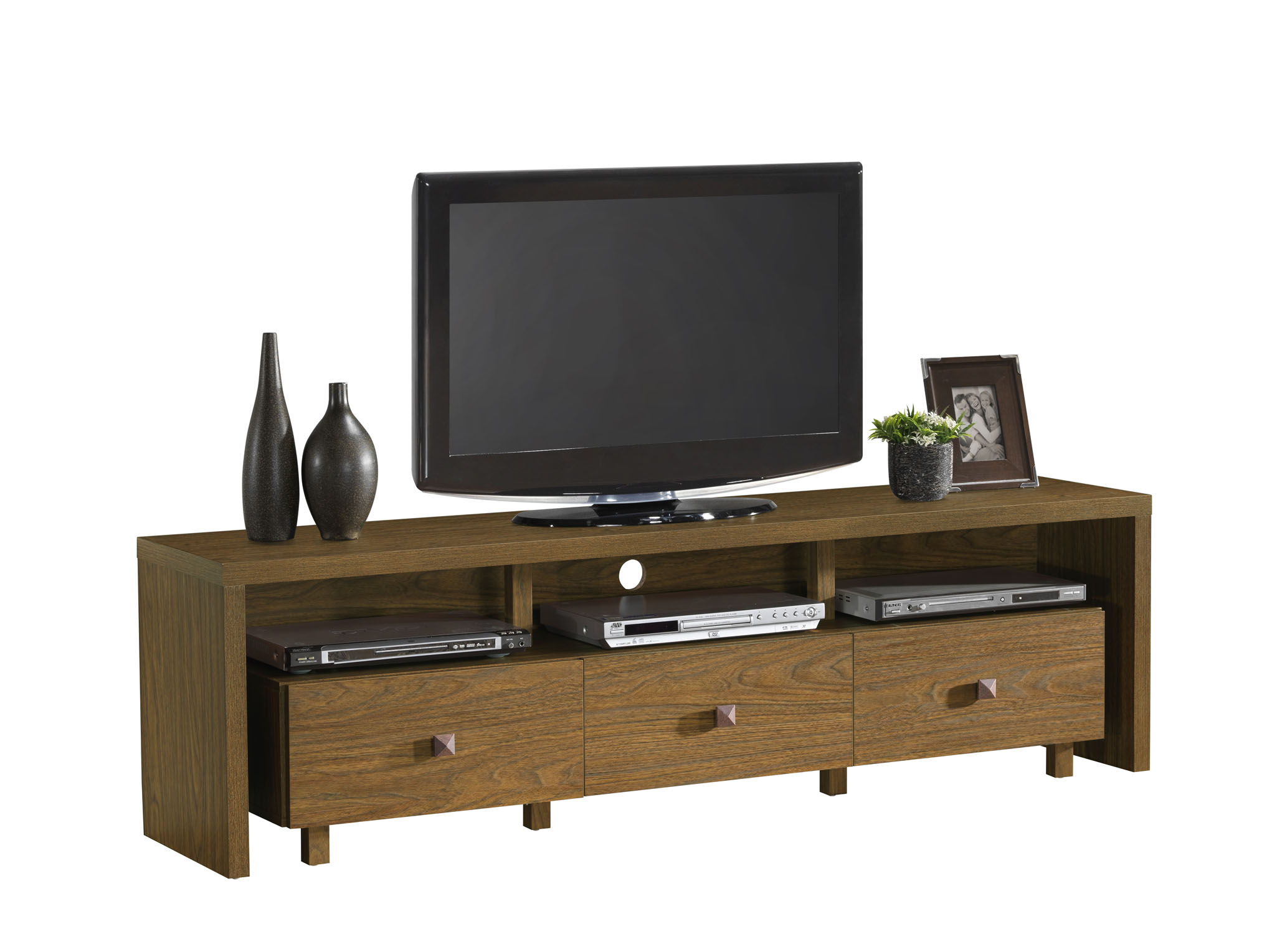 Techni Mobili Techni Mobili TV Stand with 3 Drawer for TVs up to 70 ...