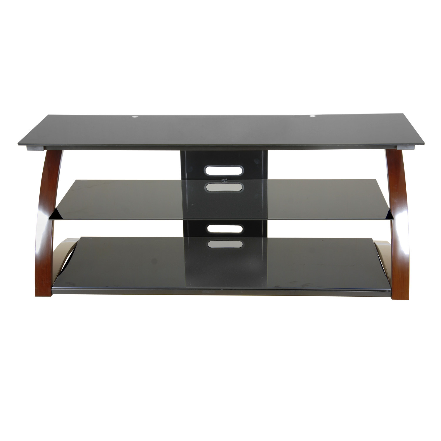Techni Mobili Techni Mobili Black Glass Tv Stand For Lcd