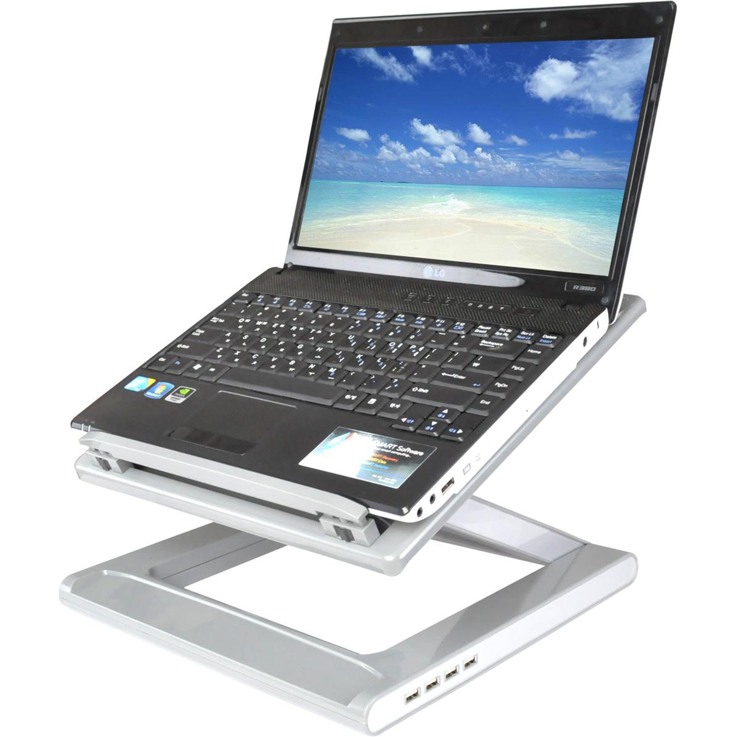 Sharper Image Ergonomic Laptop Cooling Stand By OJ