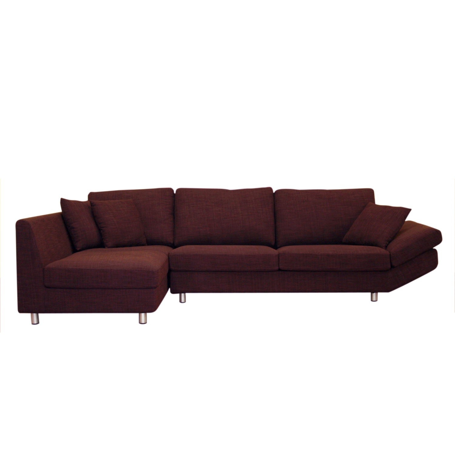 Whole sale interiors natalie deep plum fabric contemporary for Deep sofas for sale