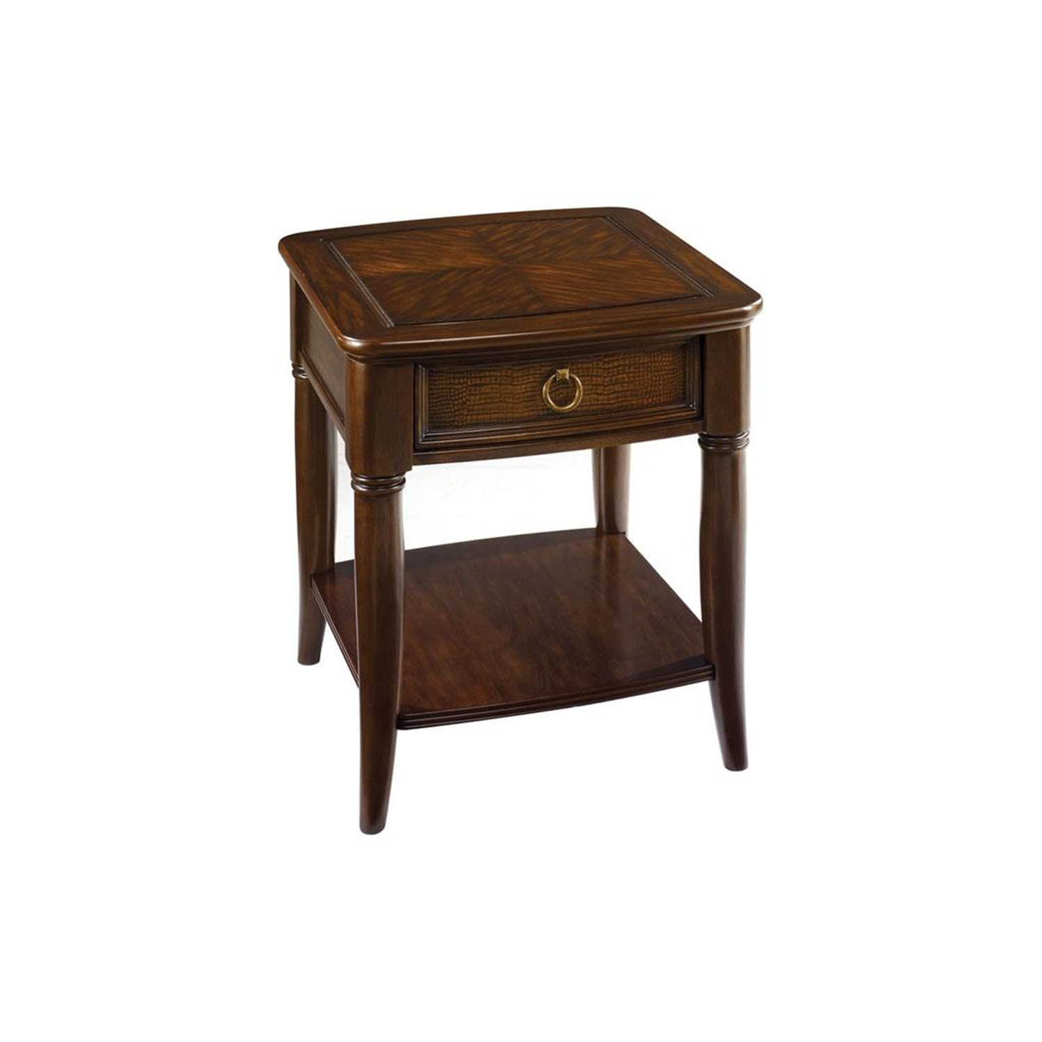 Hammary magellan drawer end table by oj commerce for End tables with drawers