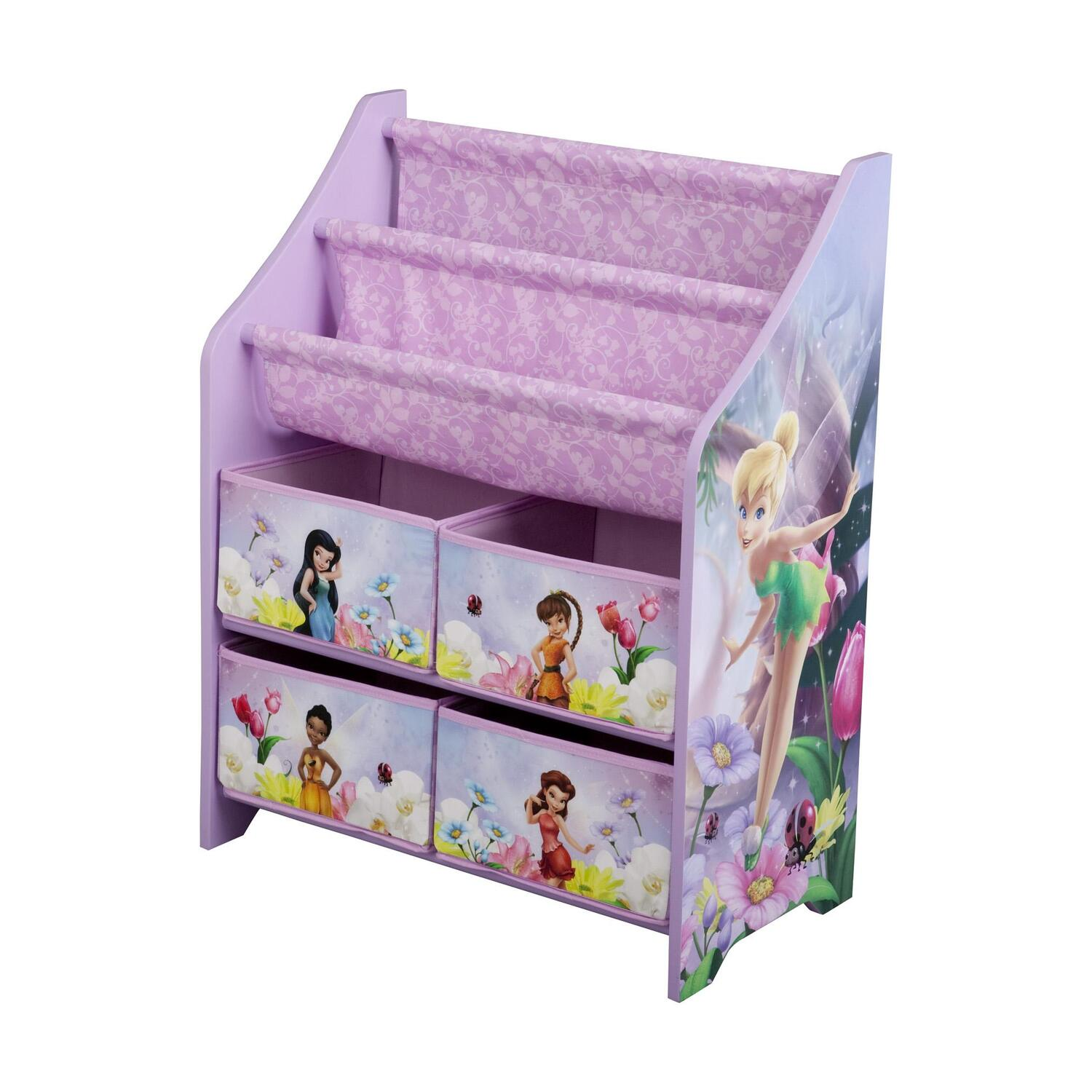 Disney fairies book toy organizer by oj commerce for Toy and book storage