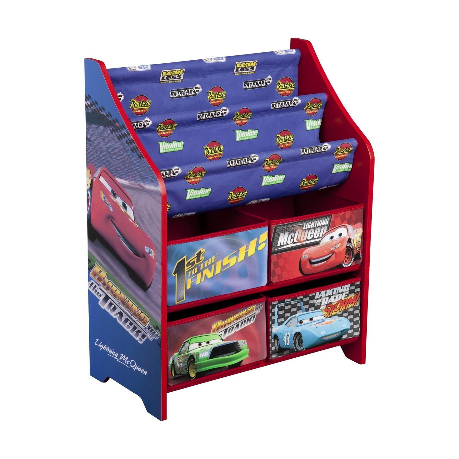 Pin disney cars toys desktop wallpaper on pinterest for Toy and book storage