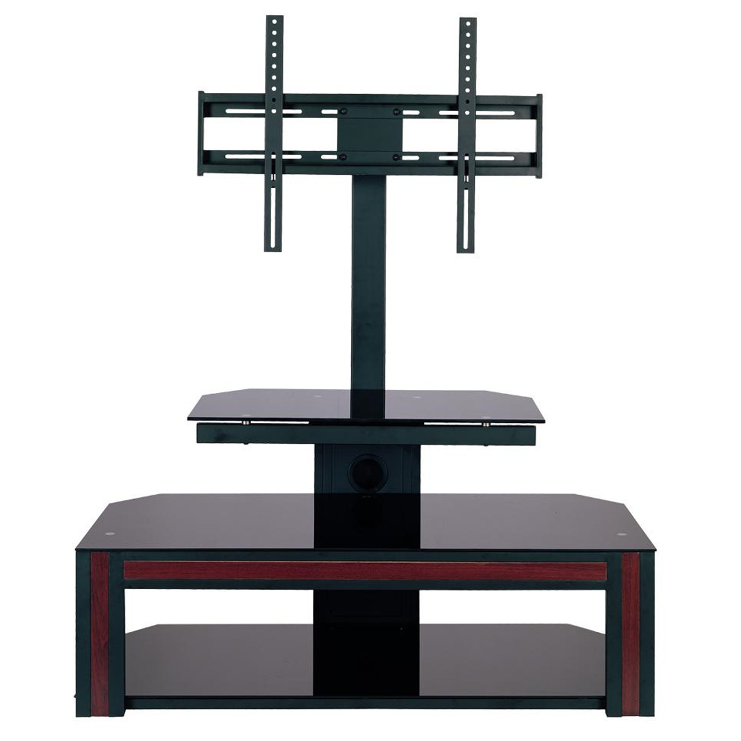 home source tv stand w mount and wood accent by oj commerce tv11207. Black Bedroom Furniture Sets. Home Design Ideas