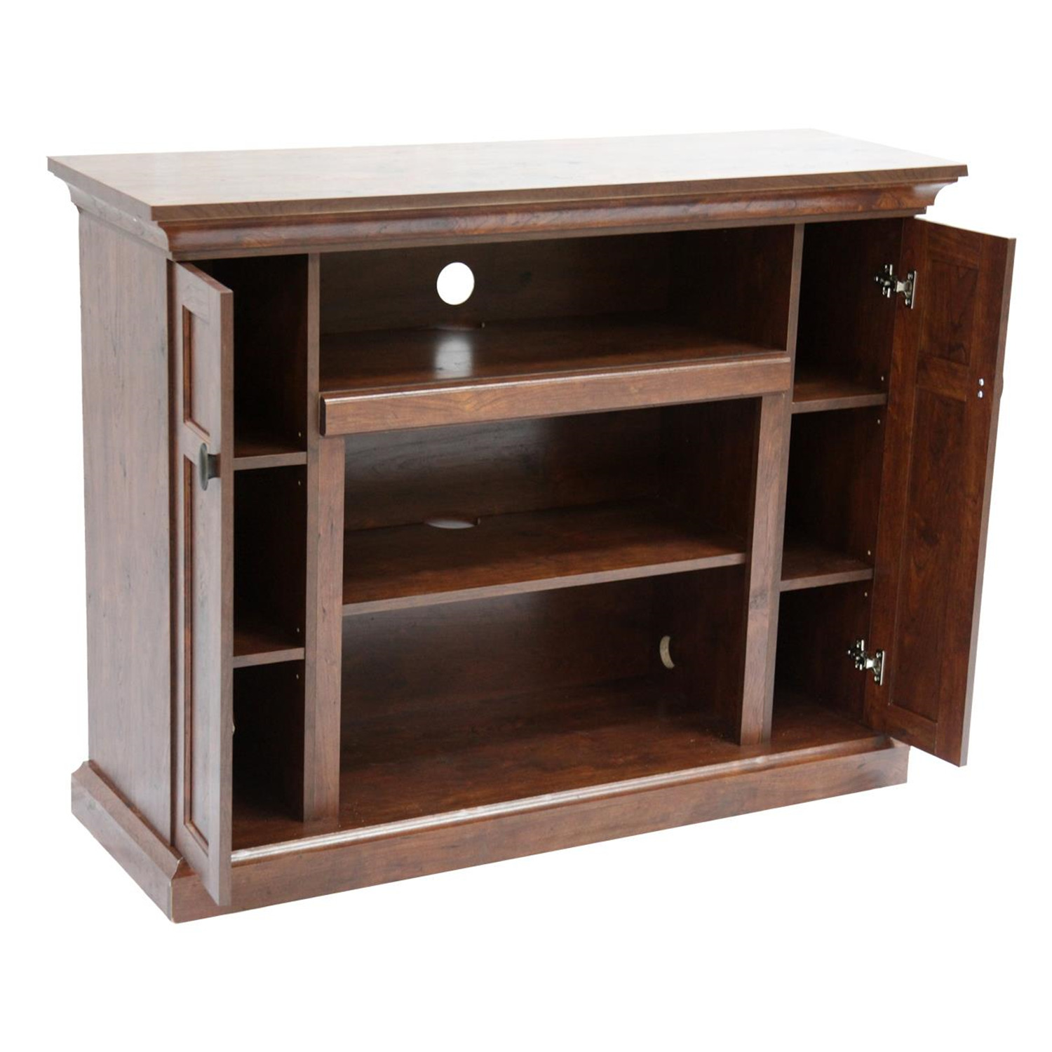 Home source dark walnut tv stand with storage by oj for Home source