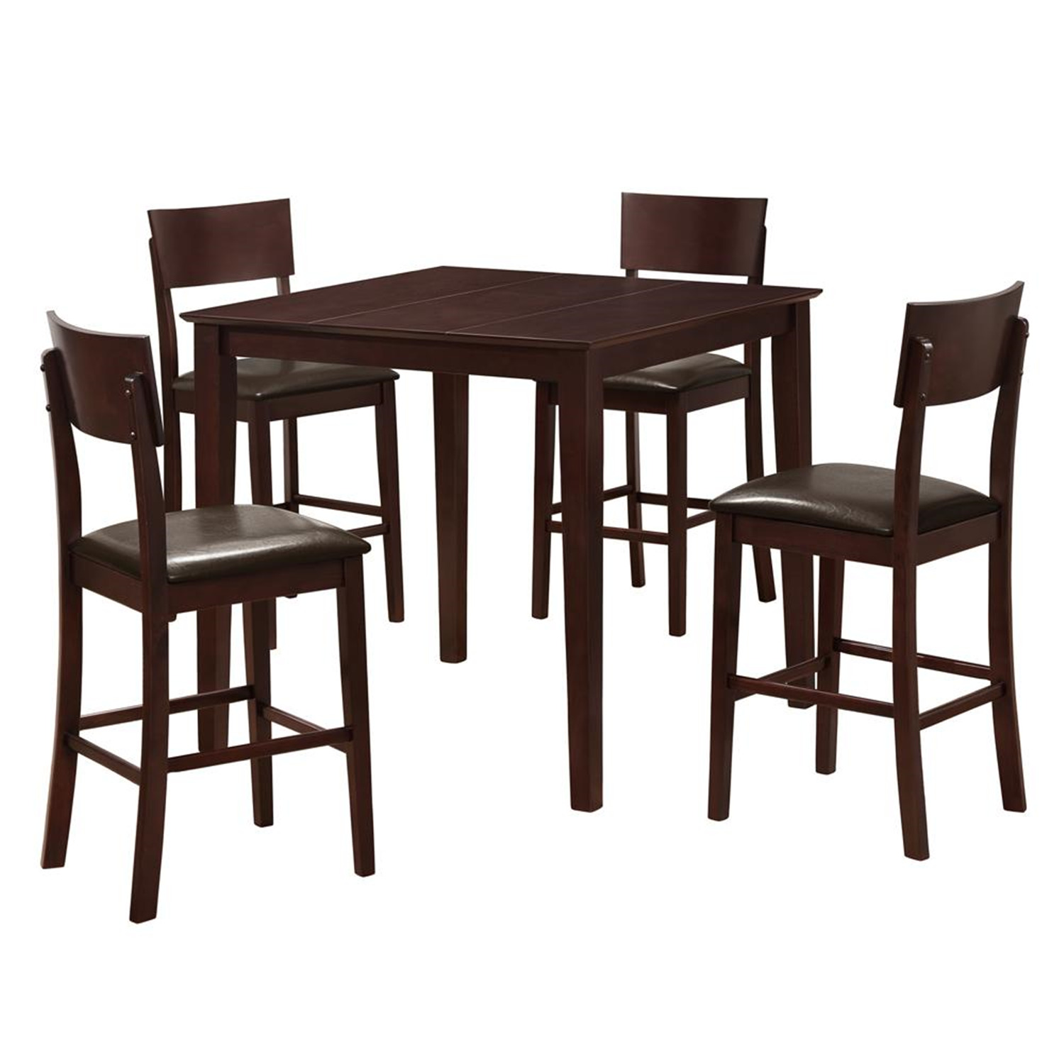 Walker edison stanley piece wood pub table set dark