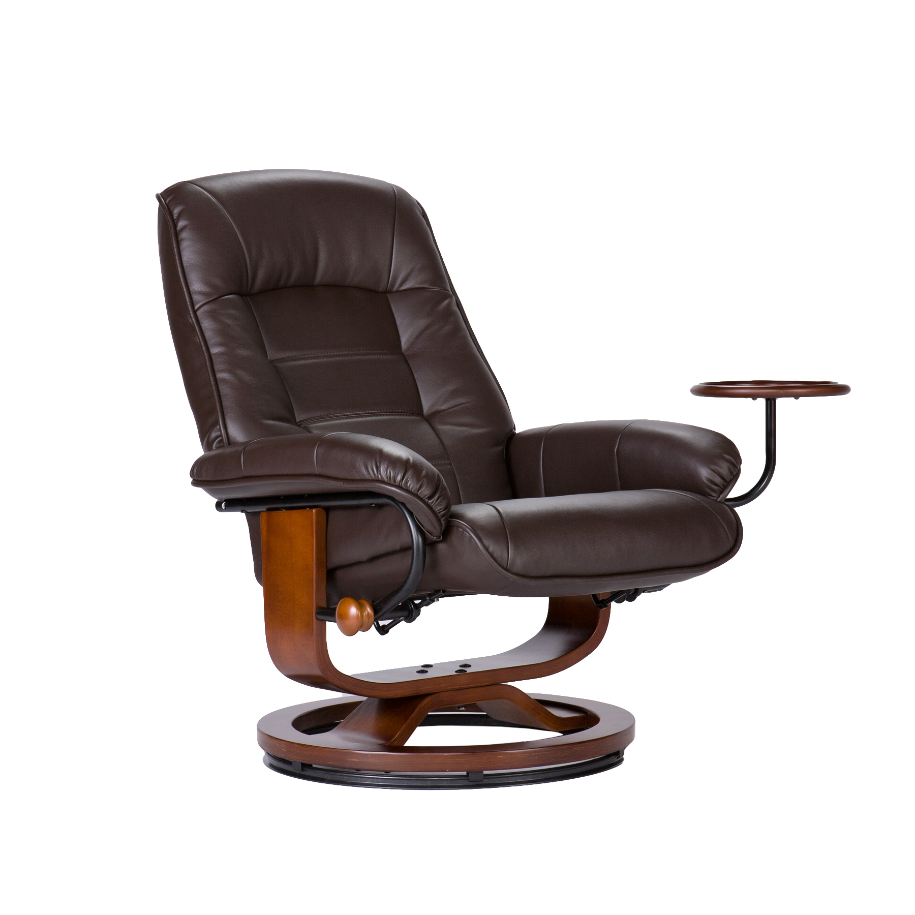 Southern Enterprises Leather Recliner and Ottoman by OJ ...