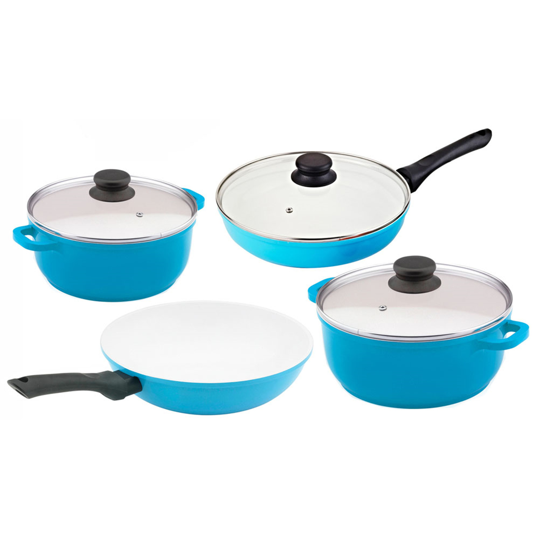 Vinaroz 7 Piece Die Cast Aluminum Cookware Set With