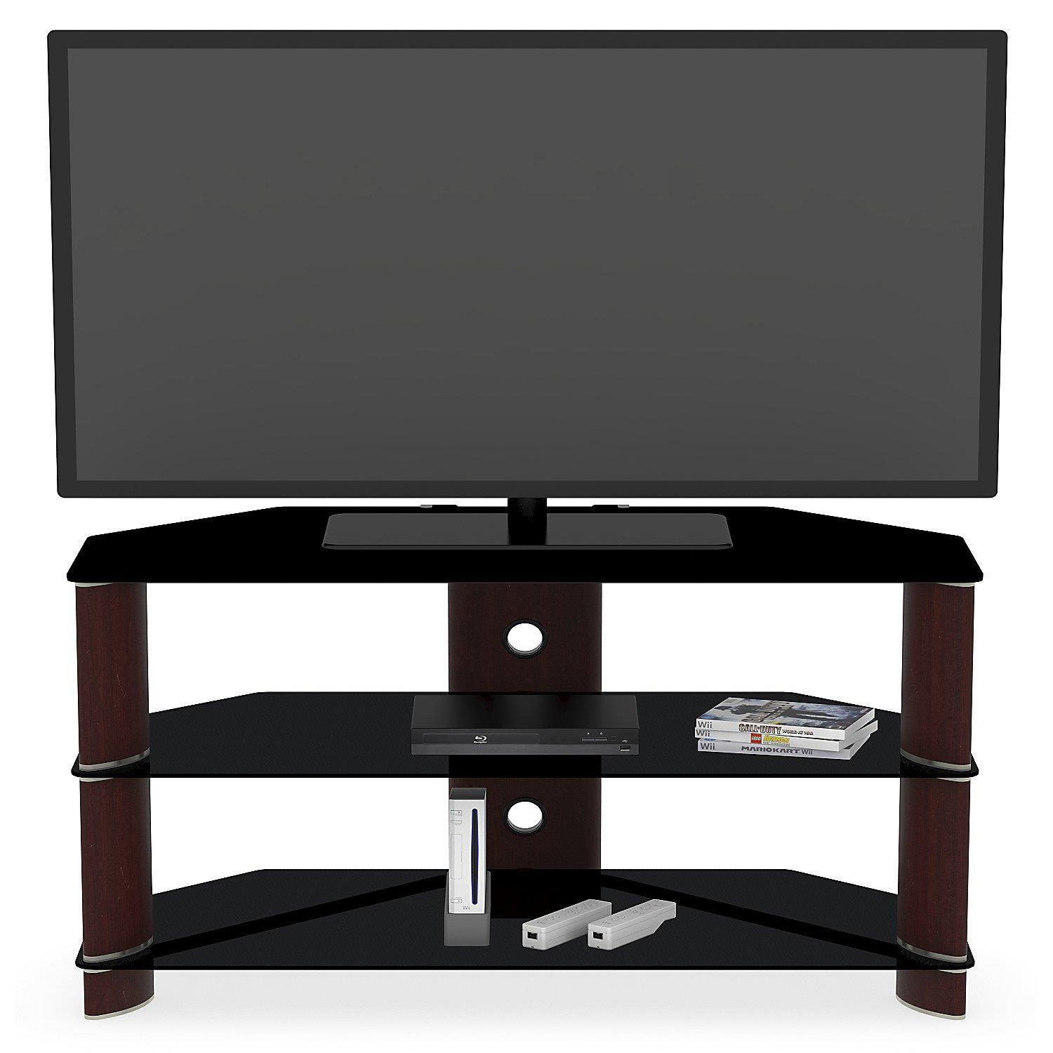Corner Tv Stand Black Corner Tv Stand With Frosted Glass