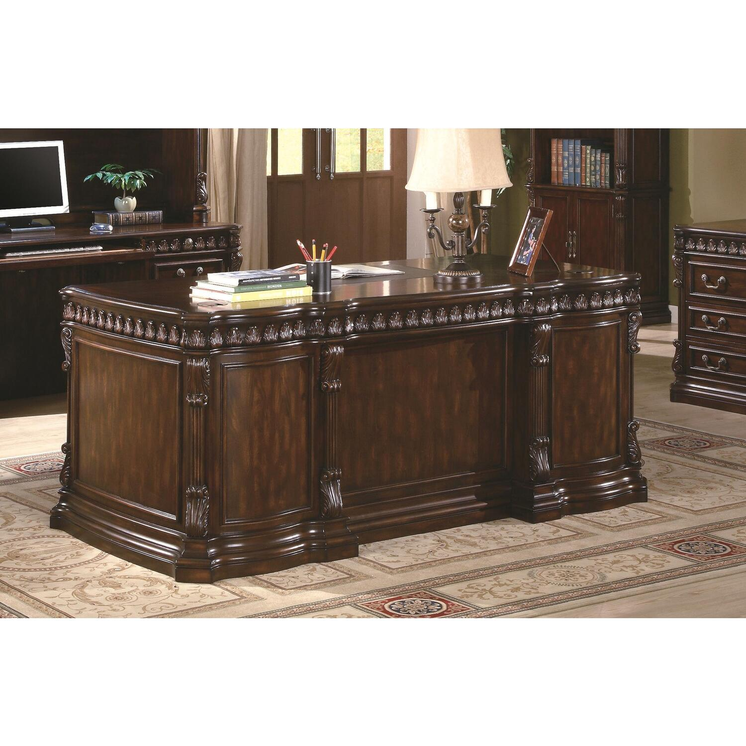 Hollywood Home Union Hill Double Pedestal Desk With