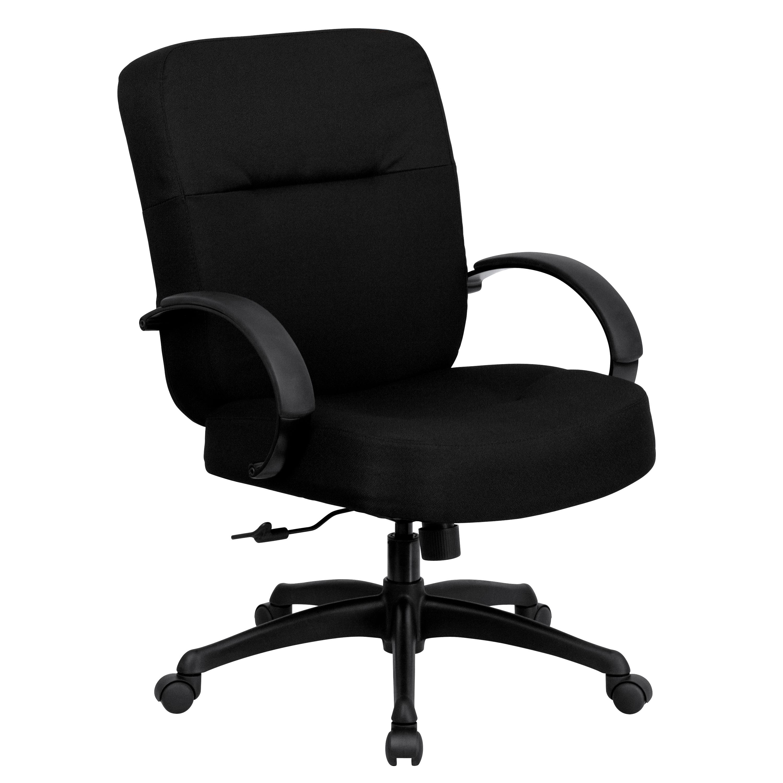 Flash HERCULES Series 400 Lb Capacity Big Tall Black Fabric Office Cha