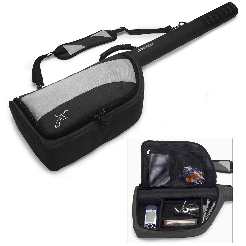 Xscape fishing rod reel travel bag by oj commerce xfb428 for Fishing pole travel case