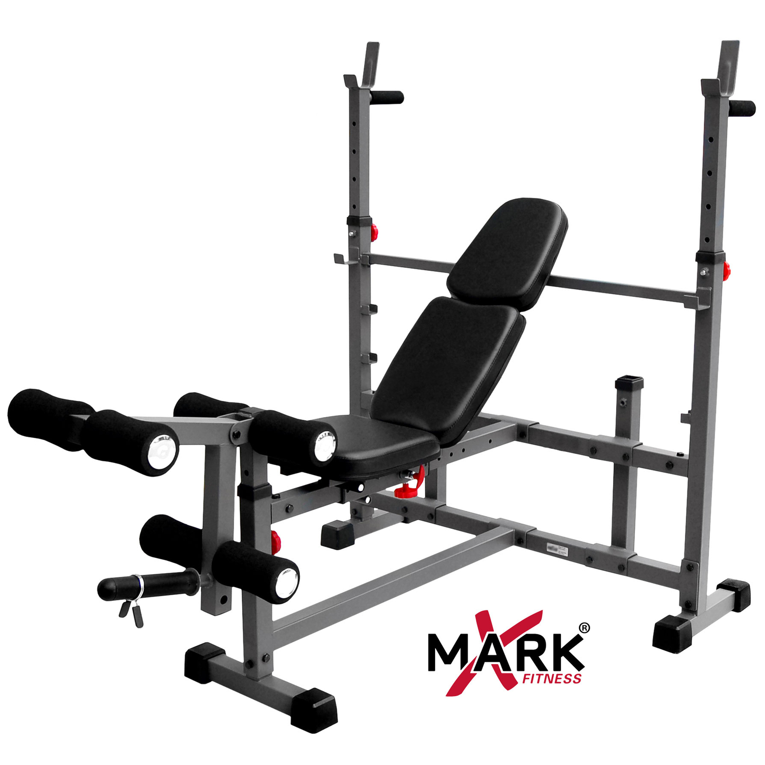 Xmark Fitness Xmark Olympic Weight Bench With Leg Curl