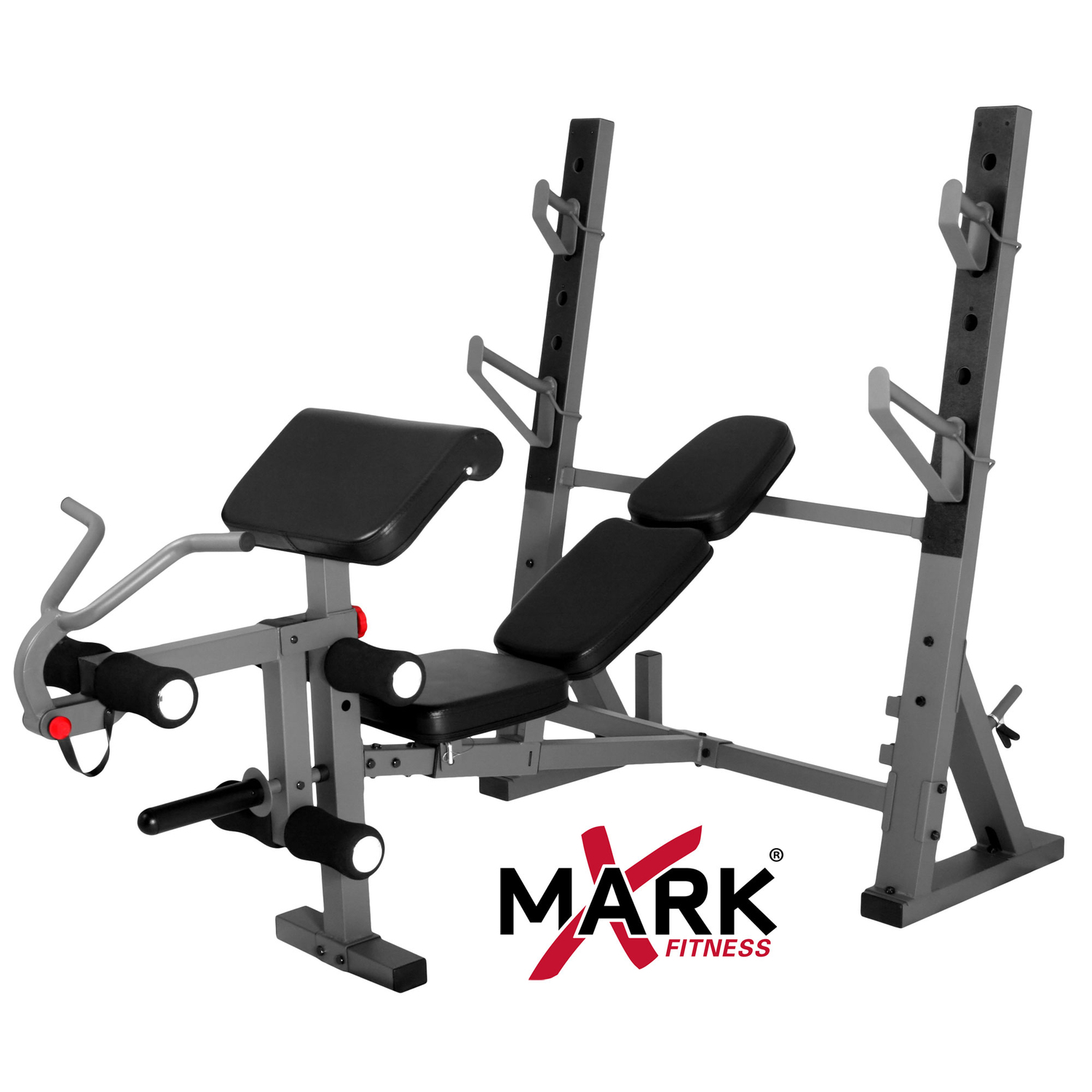 Xmark International Olympic Weight Bench With Leg And Preacher Curl Attachment Xm 4424